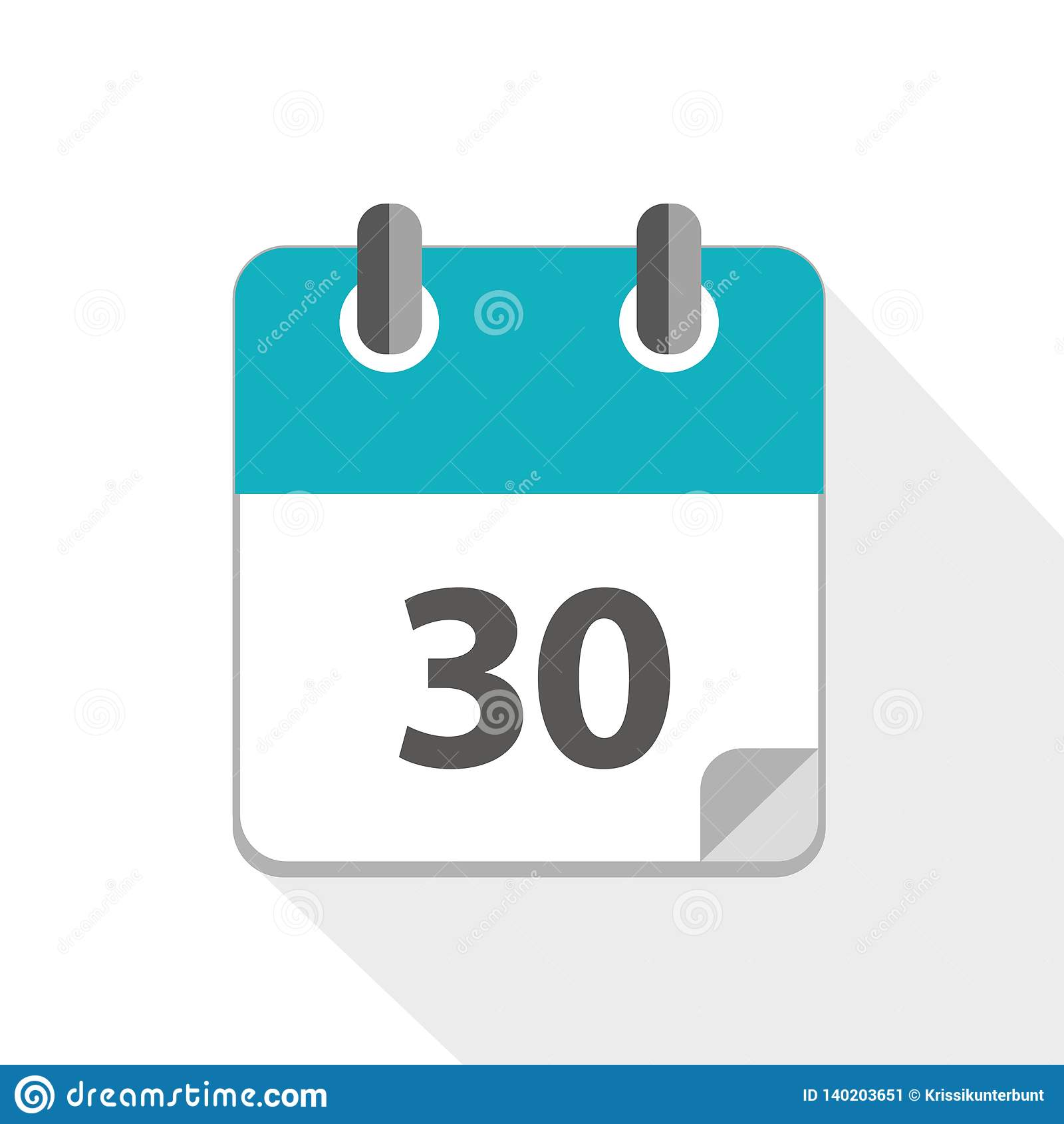Vector Illustration Of Blue Calendar 3 Icon Stock Vector