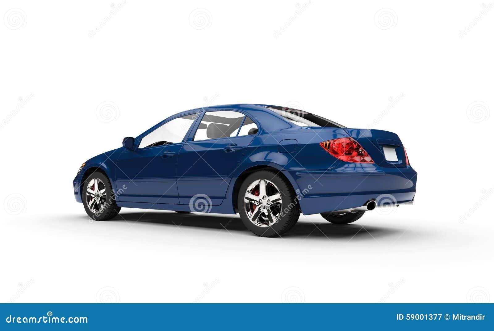 Stock Illustration Blue Business Car Showroom Side View Image59001377