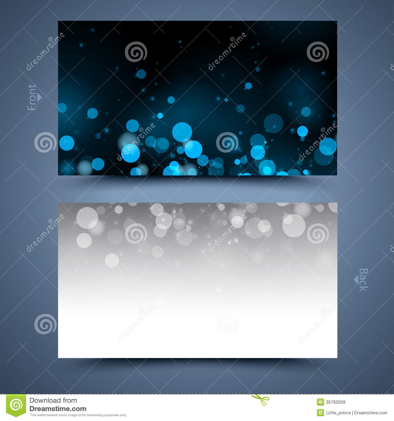 blue business card template abstract background royalty