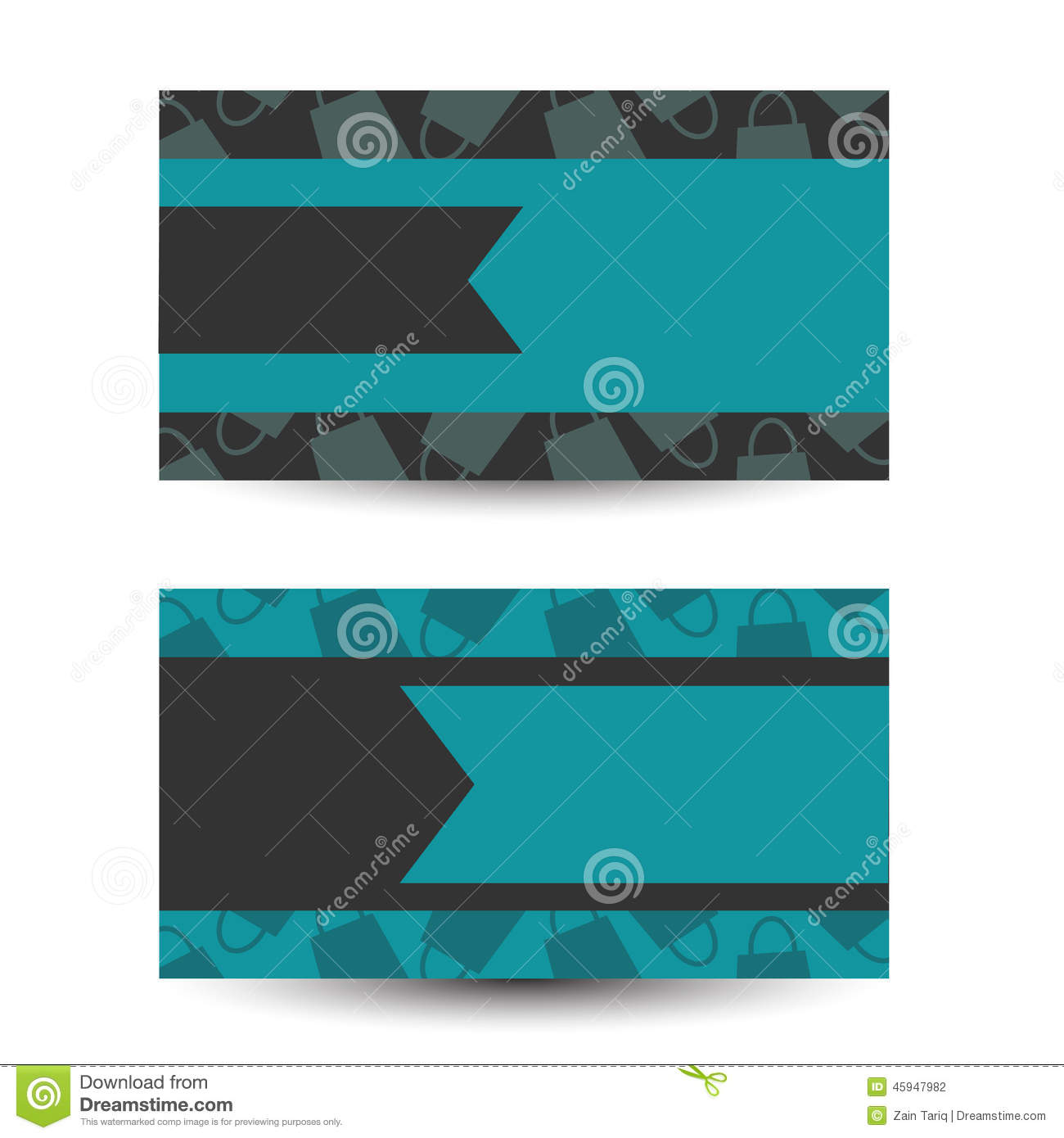 blue business card background