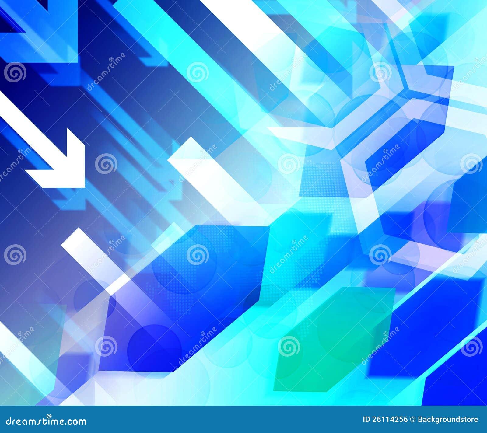 Finance Background: Blue Business Finance Background Royalty Free Stock Image