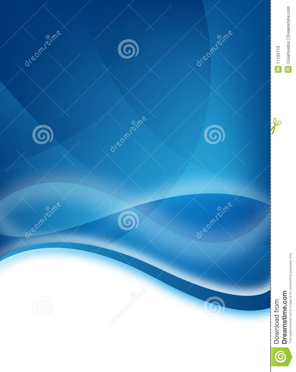 Blue Business Flyer Stock Photos - Image: 11100713
