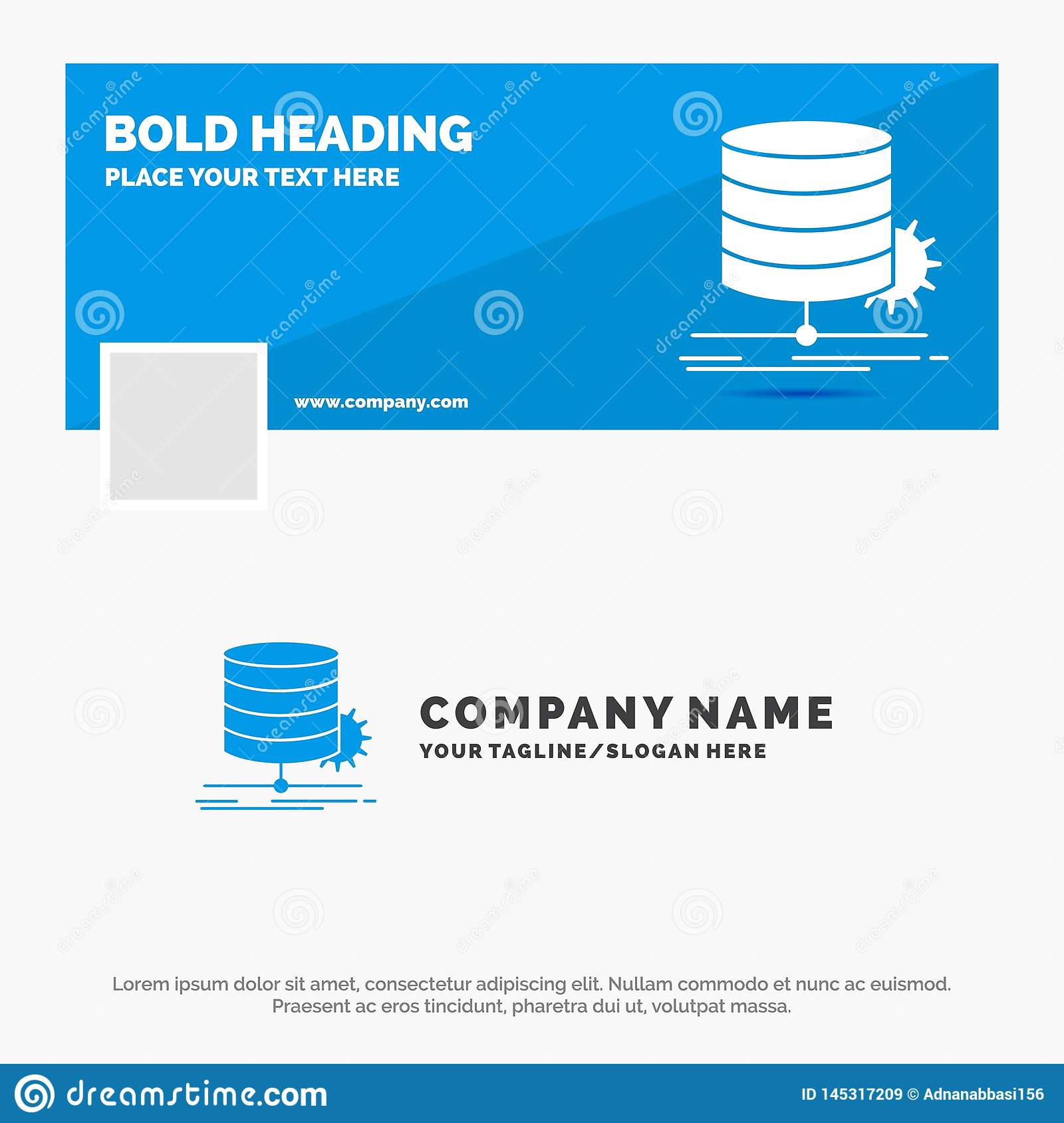 Blue Business Logo Template for Algorithm, chart, data, diagram, flow. Facebook Timeline Banner Design. vector web banner