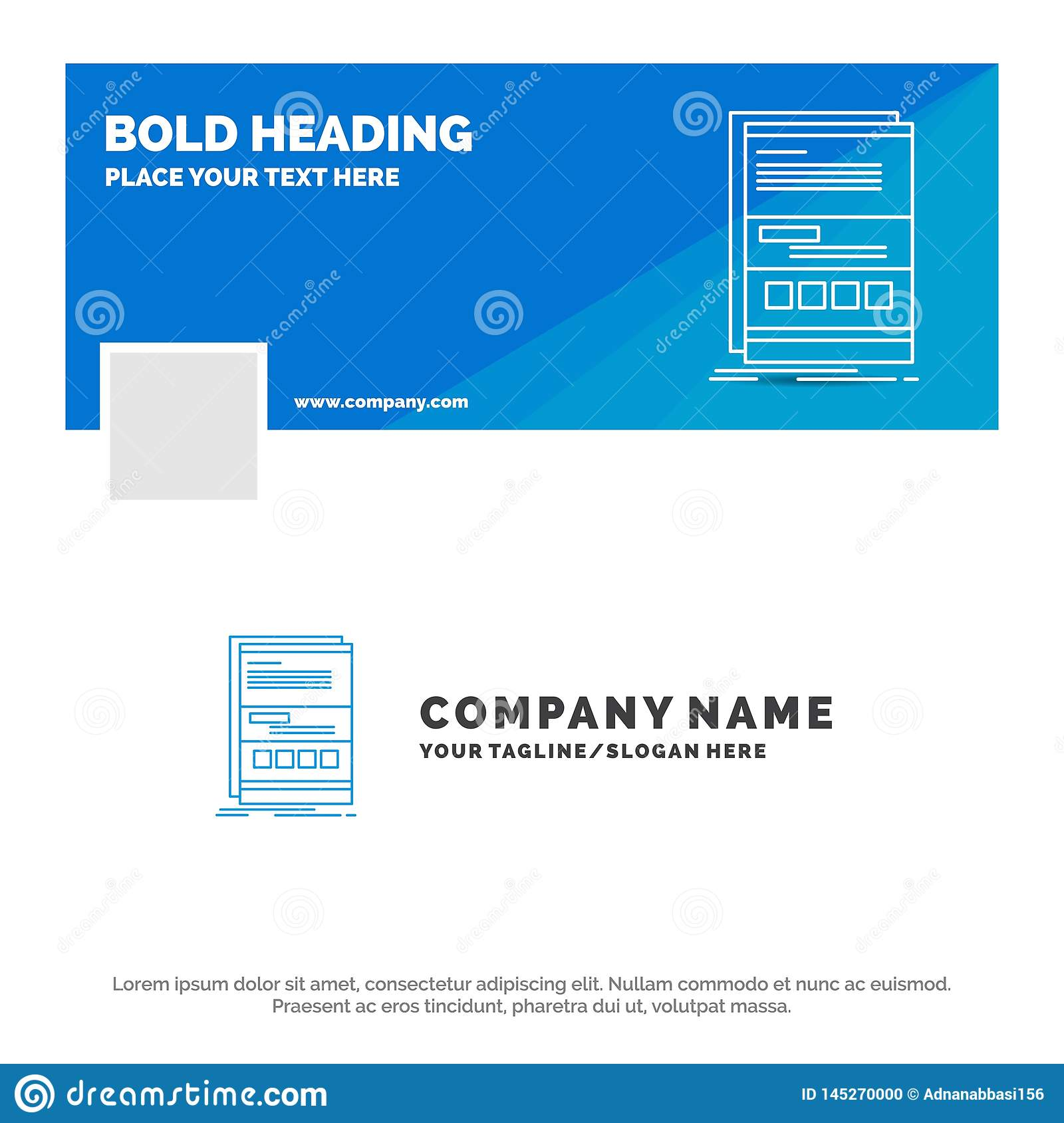 Blue Business Logo Template For Browser, Dynamic, Internet