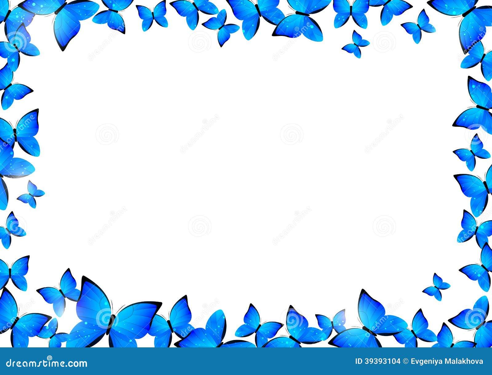 blue butterflies border stock vector  illustration of elegant