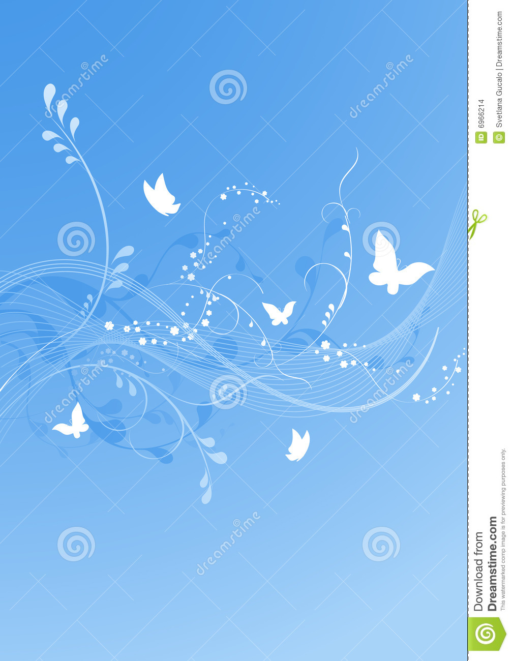 Blue Butterfly Background Stock Vector Illustration Of