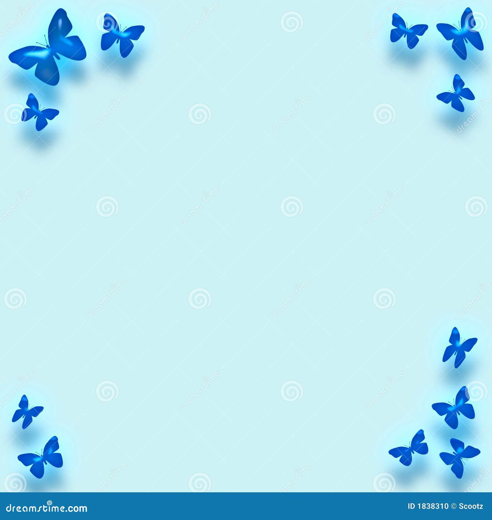 blue butterfly border stock illustration illustration of compose
