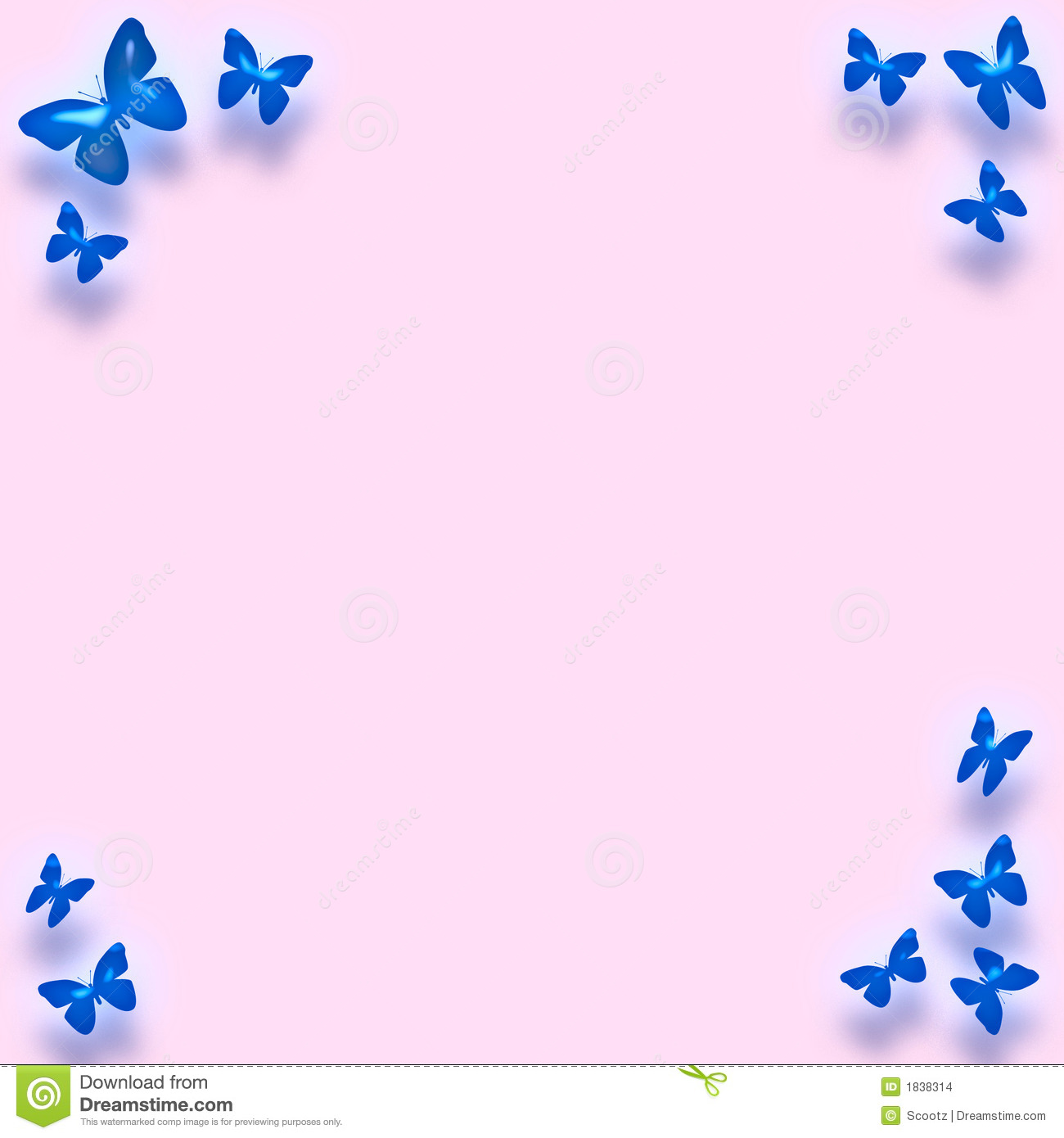 Blue Butterfly Border Stock Images - Image: 1838314