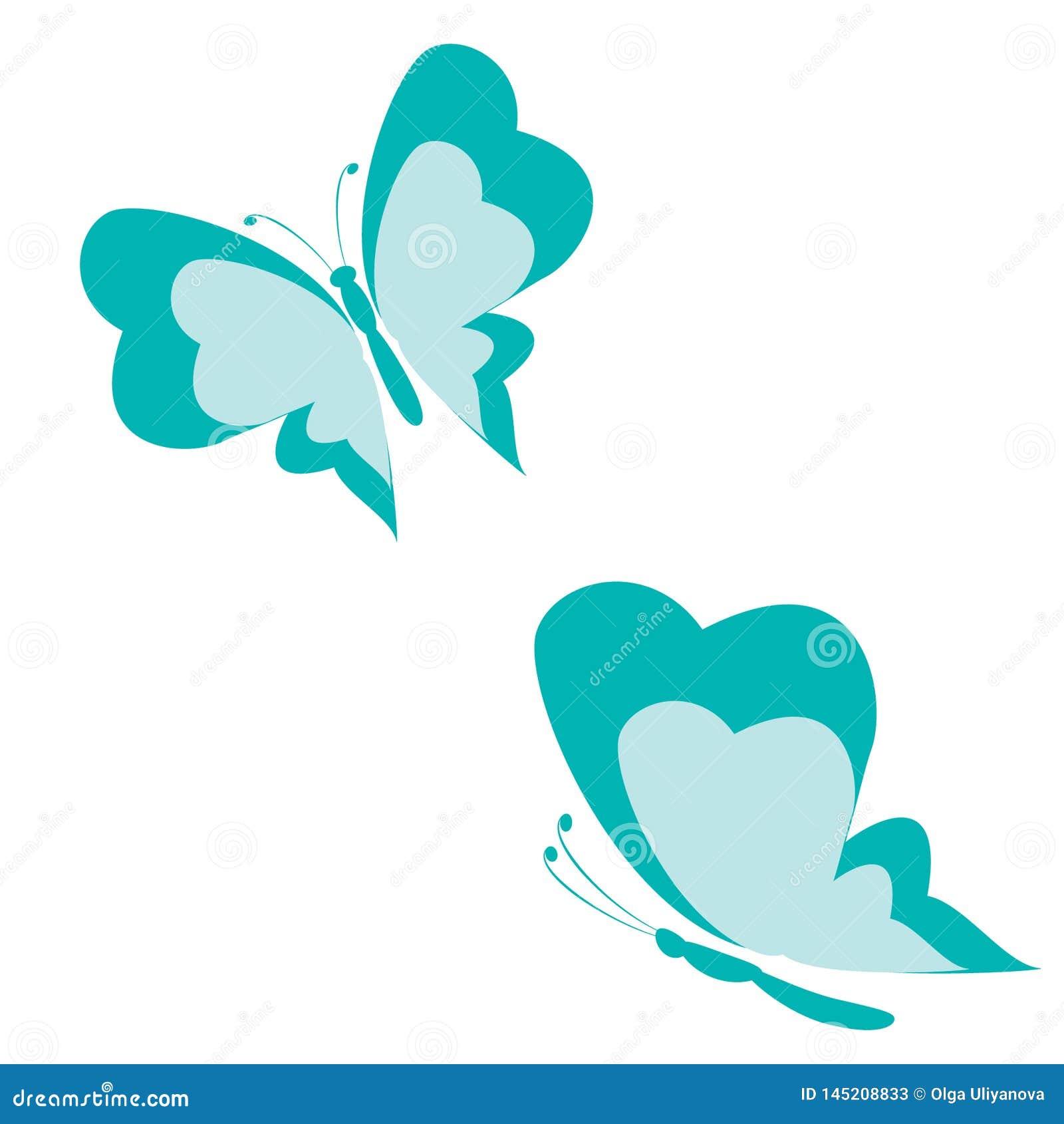 Blue butterfly shape