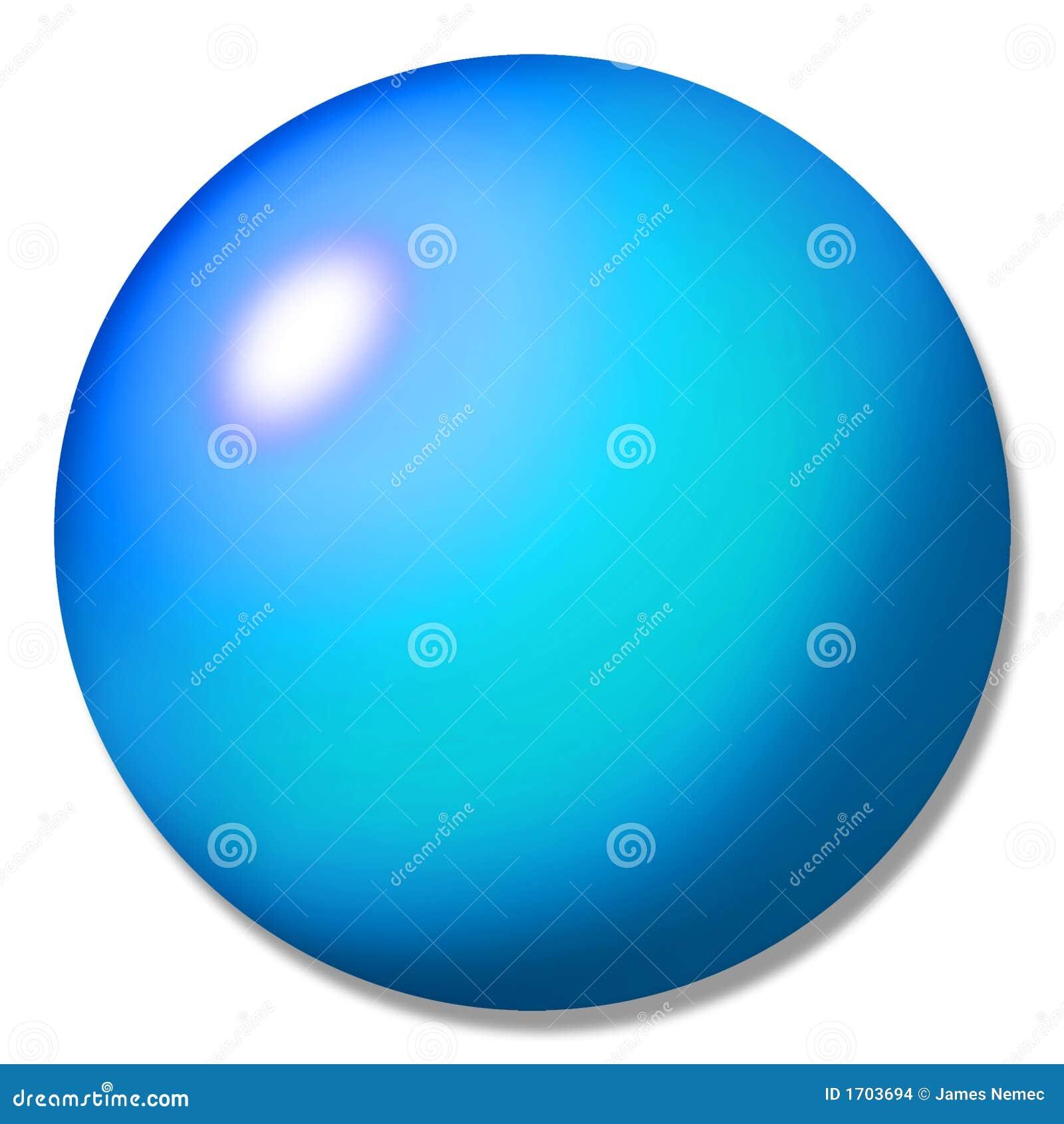 Blue Button Ball Marble Stock Illustration Illustration