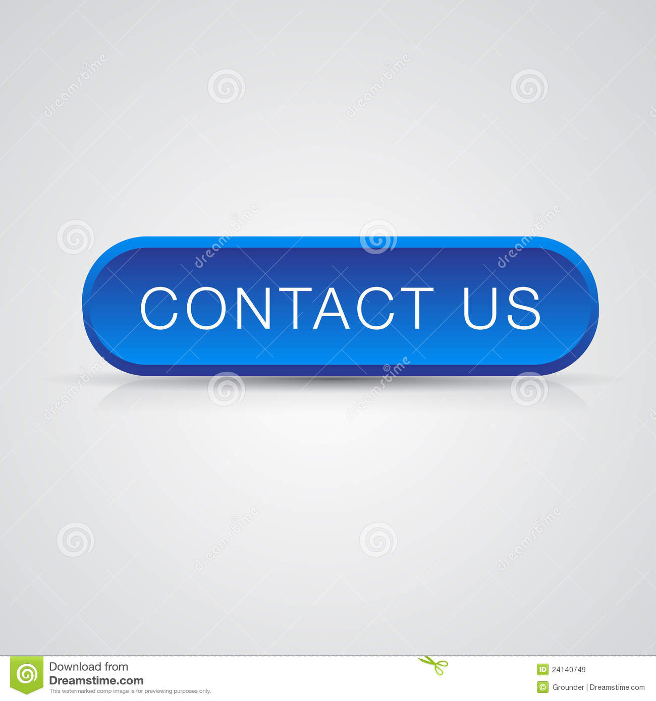 Contact Us: Blue Button Contact Us Royalty Free Stock Images