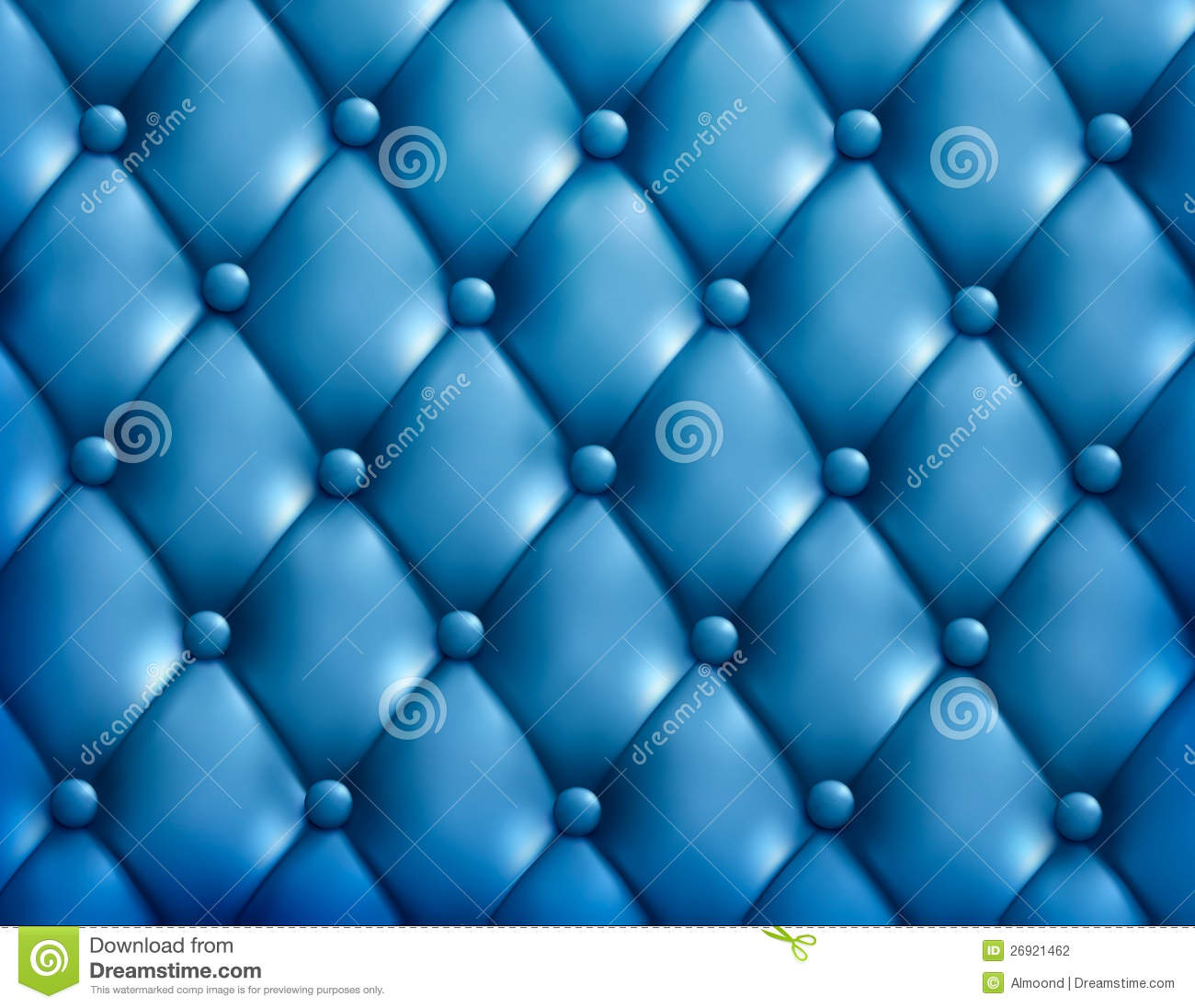 Blue Button Tufted Leather Background Stock Illustration
