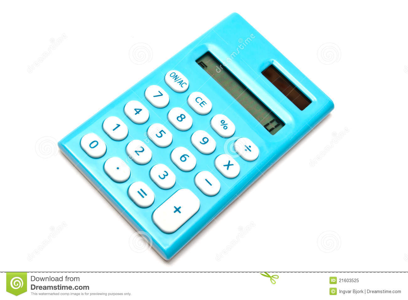 Download Blue calculator stock image. Image of accounting, mini - 21603525