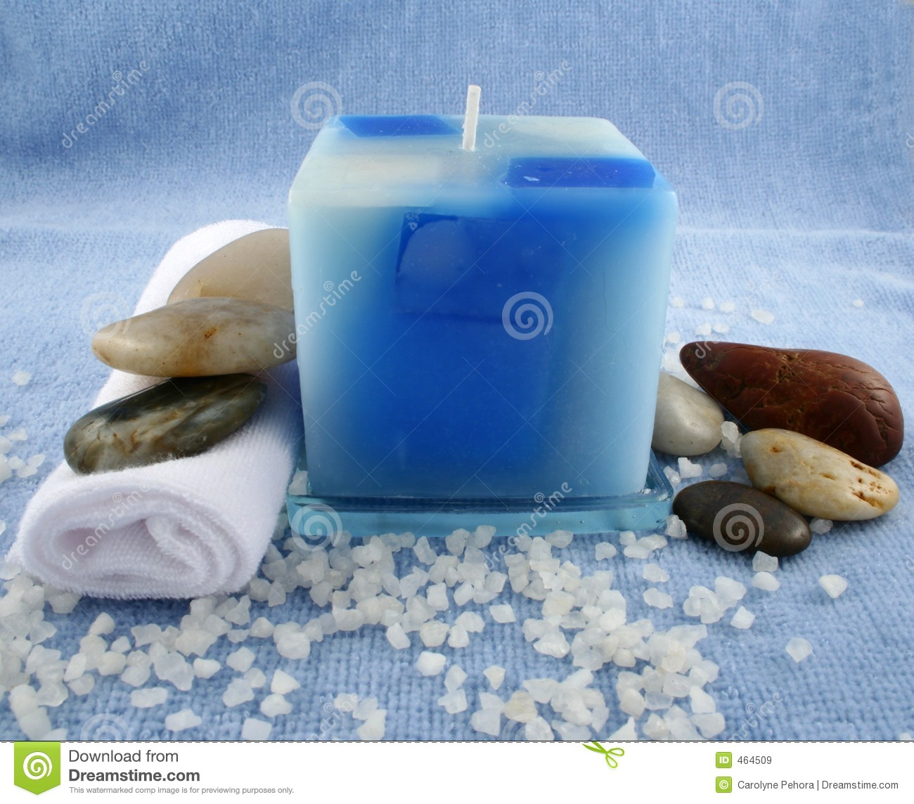 Download Blue Candle stock image. Image of aromatherapy, tranquility - 464509