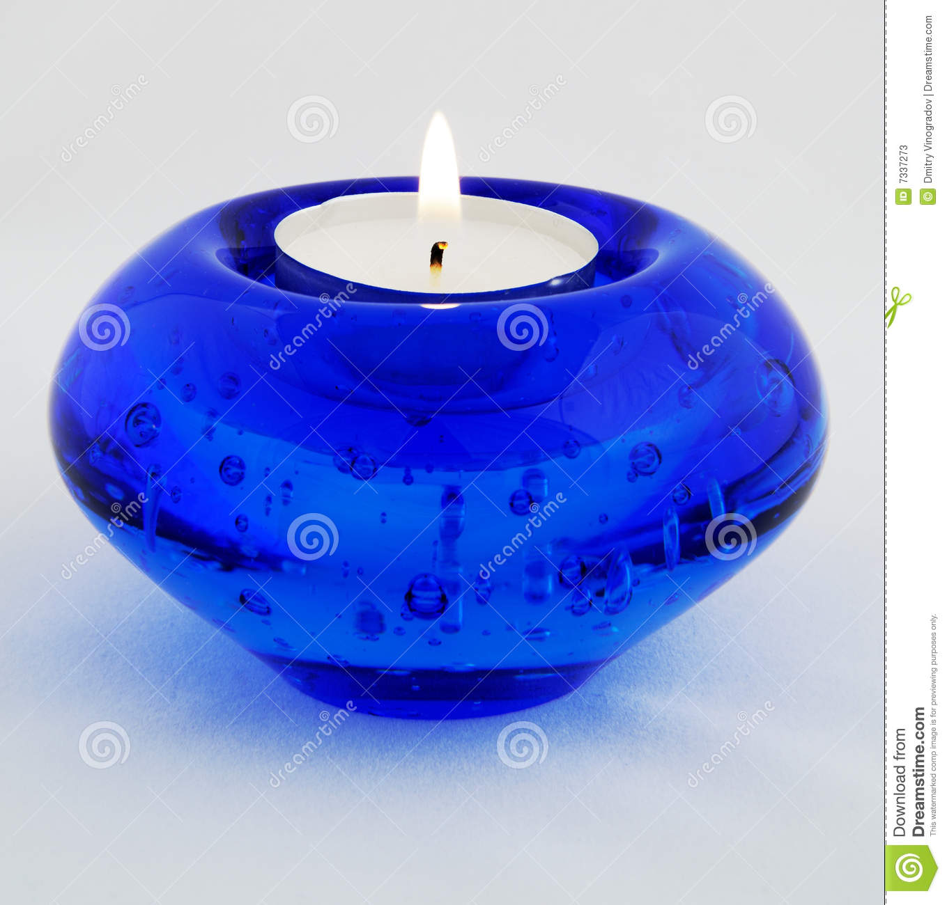 Blue candle stock image. Image of reflection, still, white - 7337273 for Blue Candle White Background  103wja