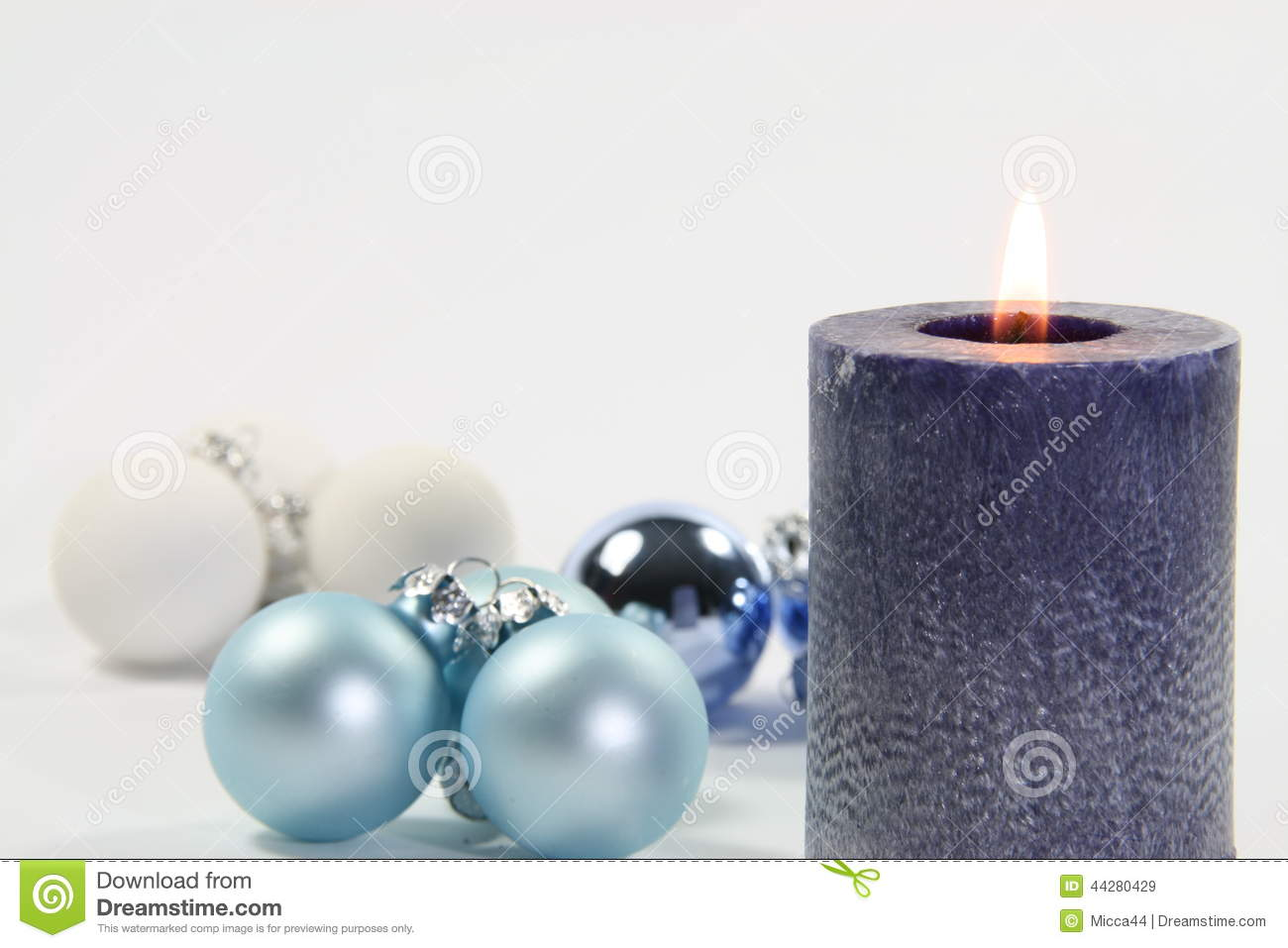 Blue Candle And White Background Stock Image - Image of season ... for Blue Candle White Background  131fsj