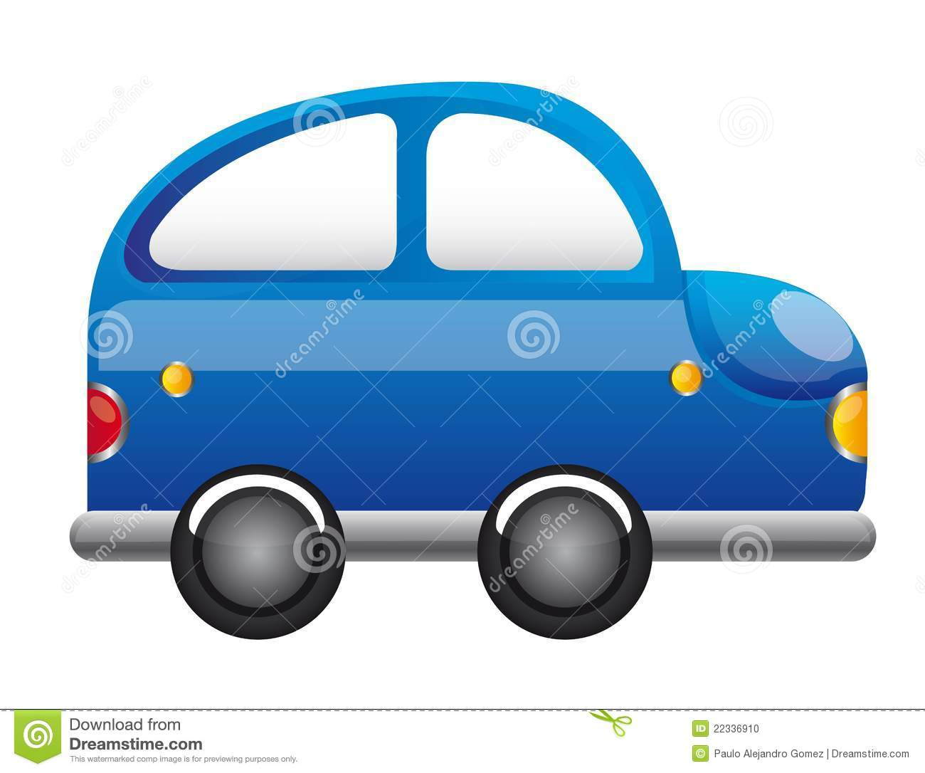 Blue Car Cartoon Stock Vector. Image Of Side, Speed