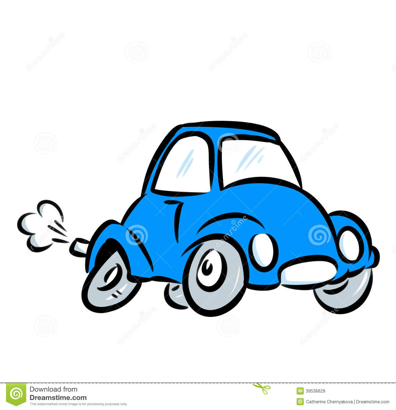 Blue Car Illustration Stock Illustration - Image: 39536629
