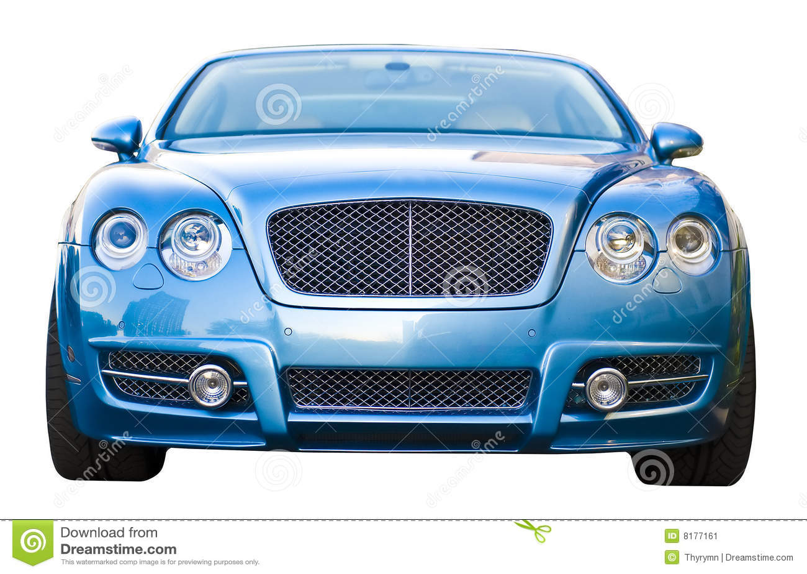 Blue car luxury