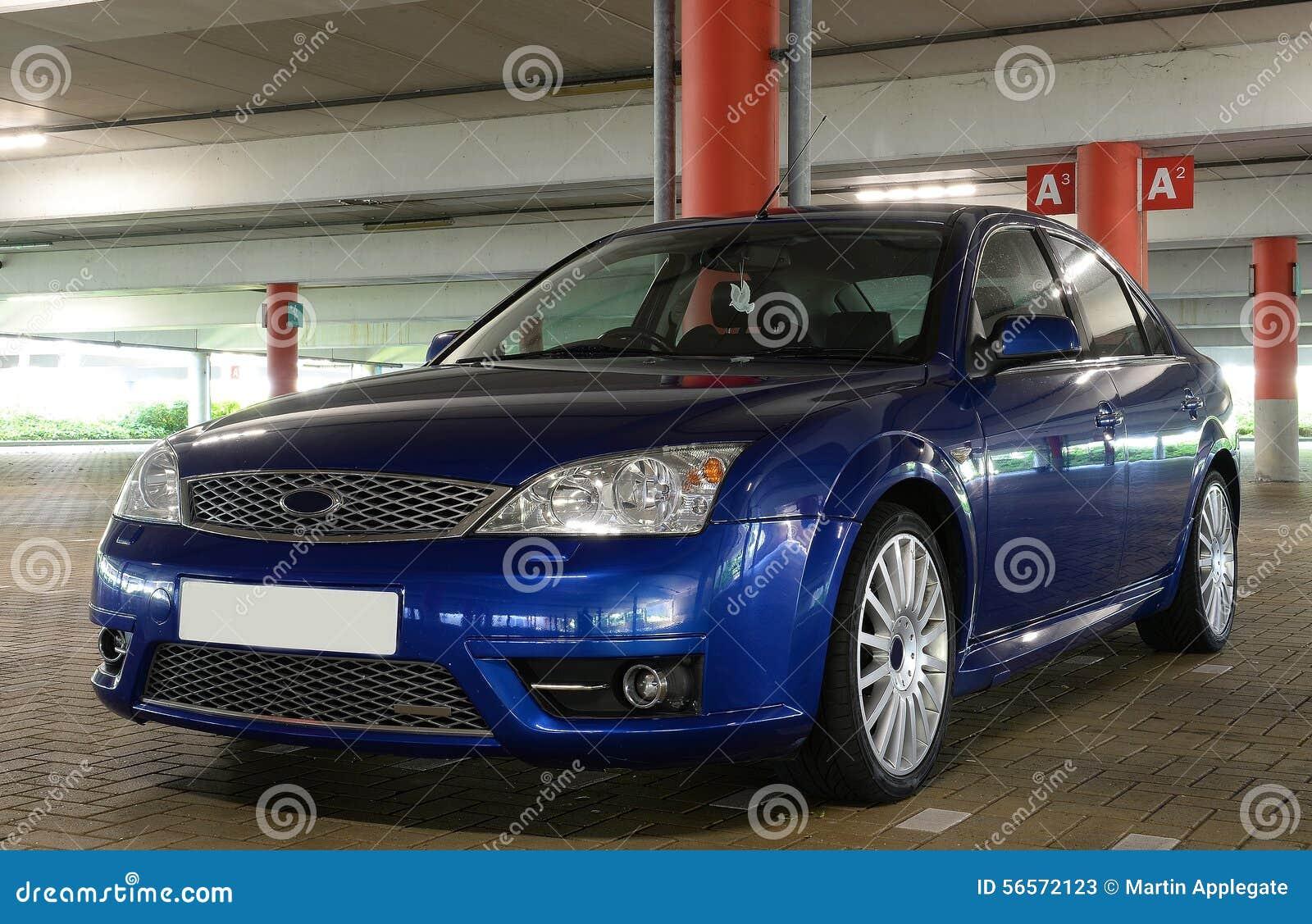 Download Blue car sports στοκ εικόνα. εικόνα από μέτωπο, πρωινός - 56572123