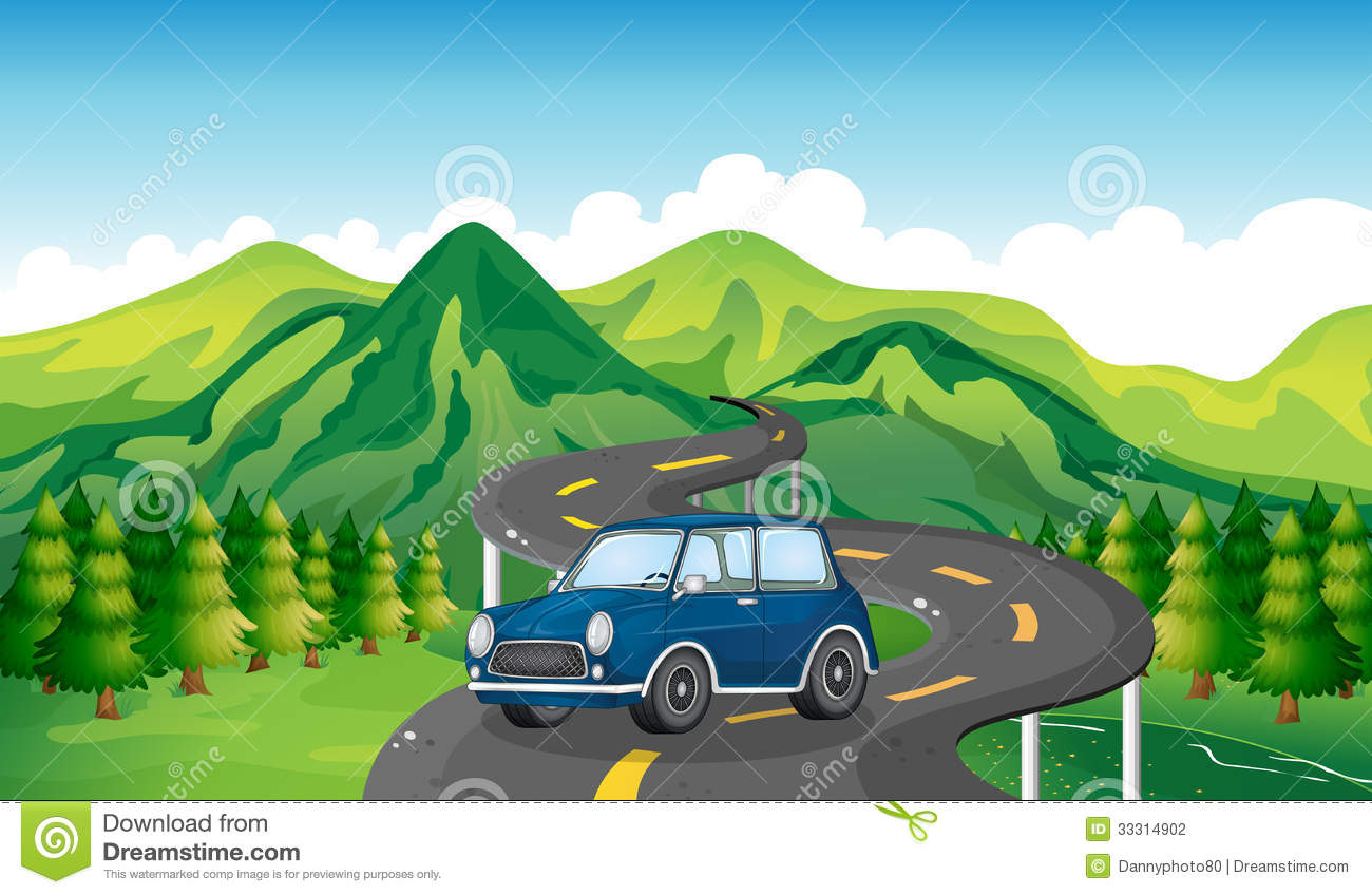 clipart car driving on road - photo #15