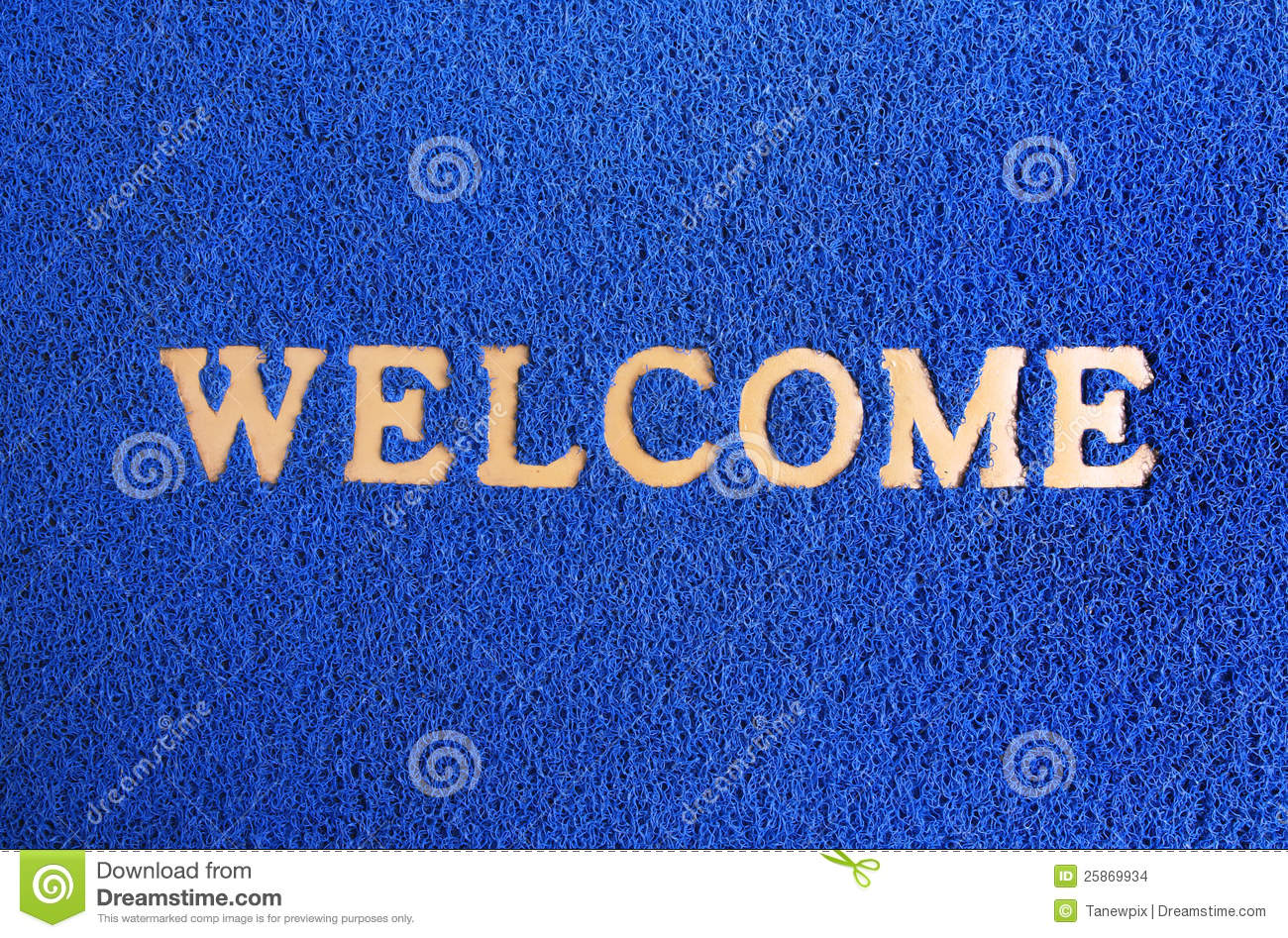 Blue Carpet Welcome Mat Stock Images Image 25869934