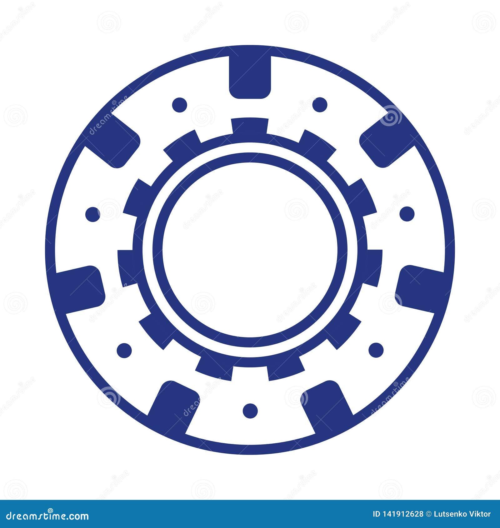Cool blue casino poker chip