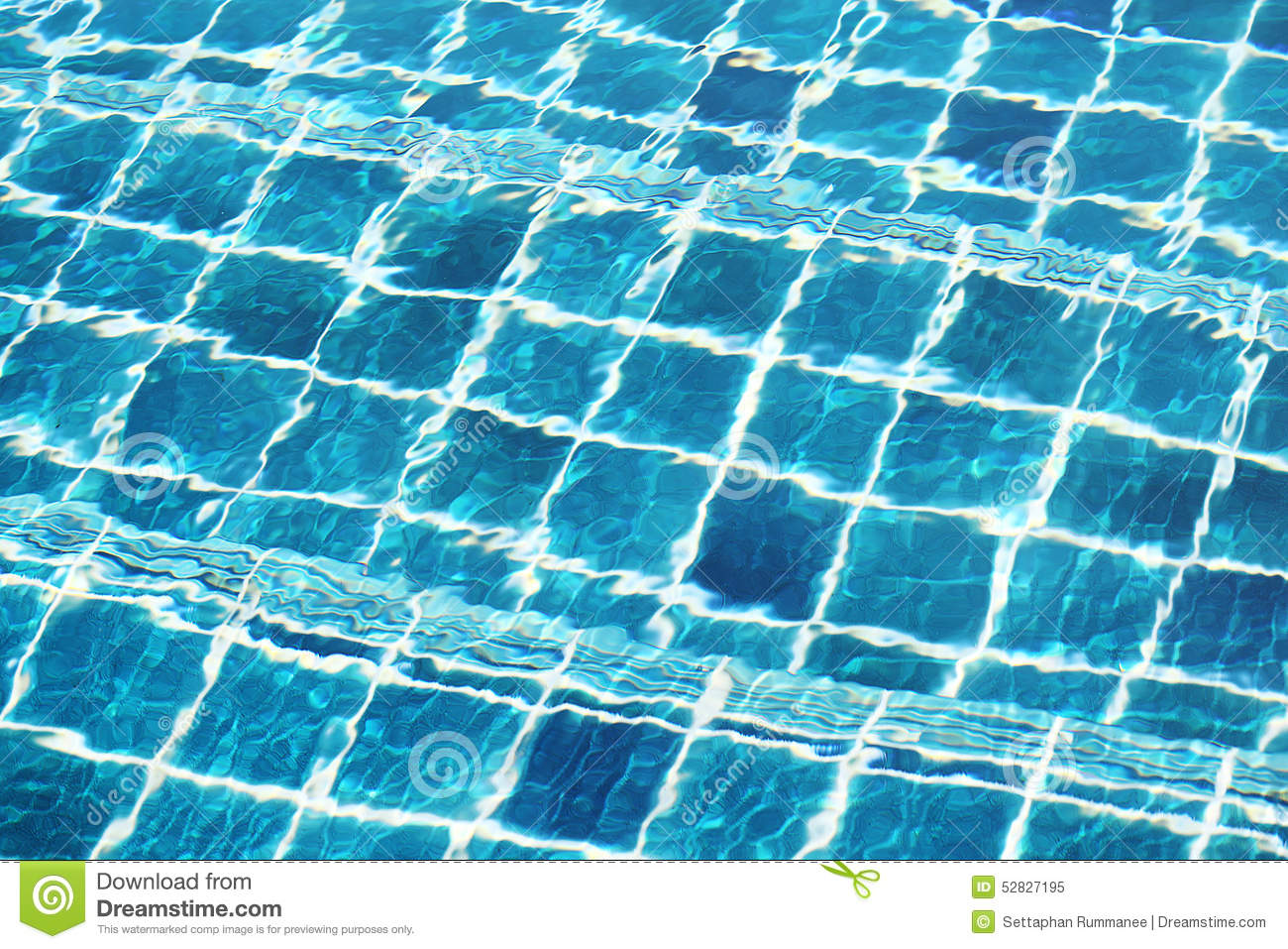 Blue Ceramic Wall Tiles And Details Of Surface On Swimming