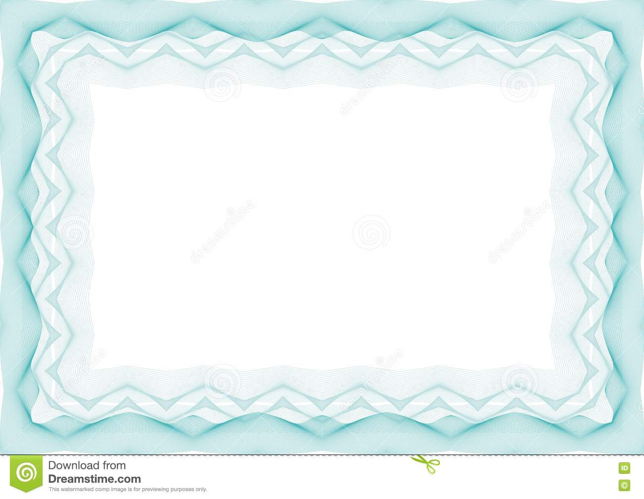 certificate frame template - blue certificate or diploma template frame border stock