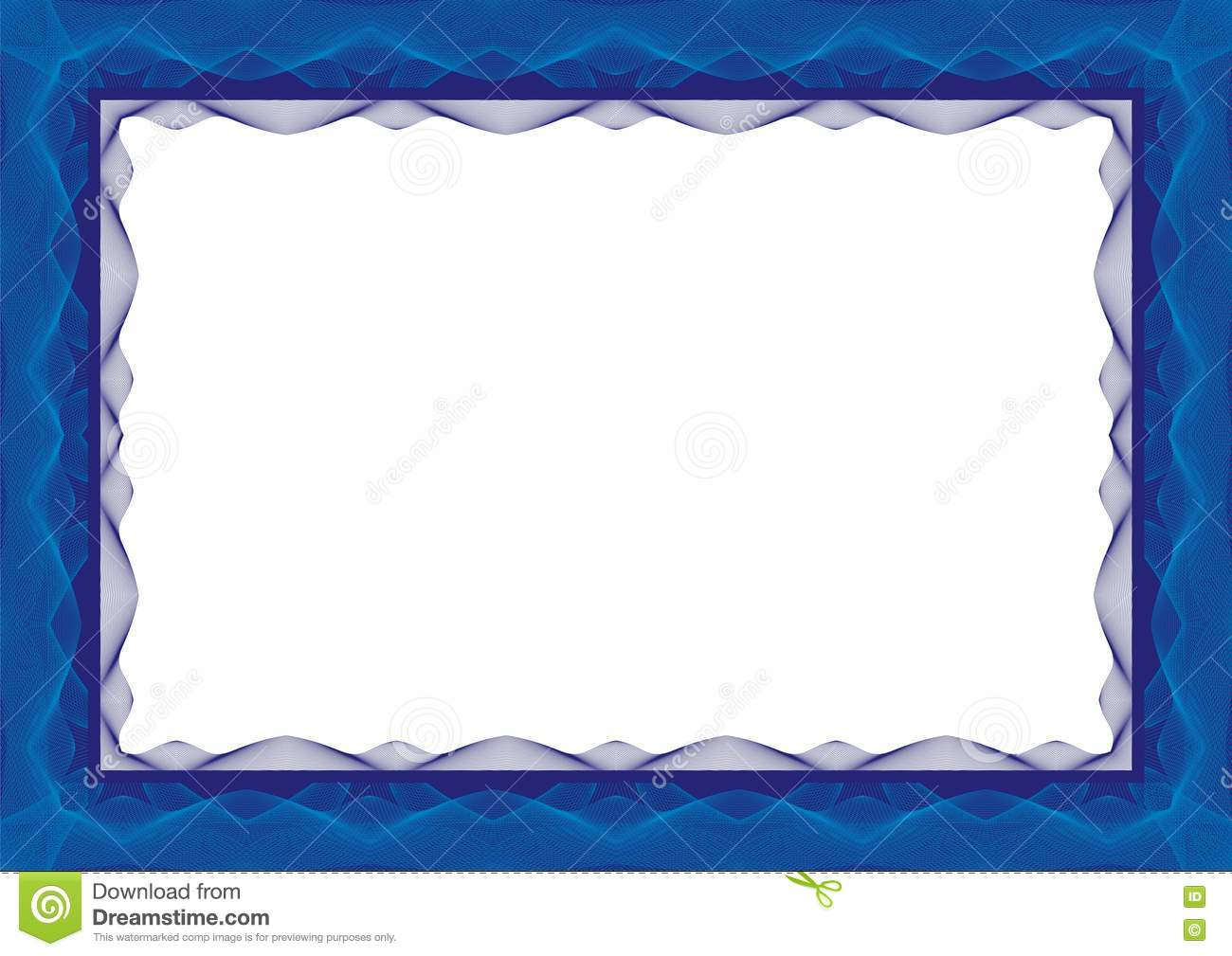 download blue certificate or diploma template frame border stock vector illustration of award