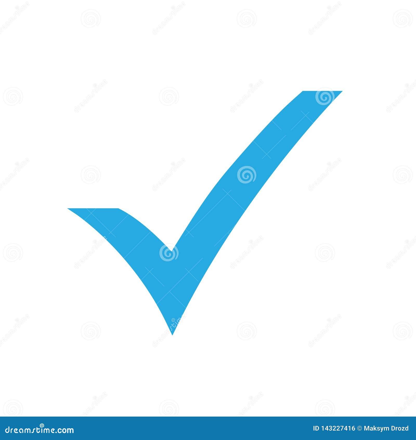 Blue Check Mark Icon  Tick Symbol, Tick Icon Vector