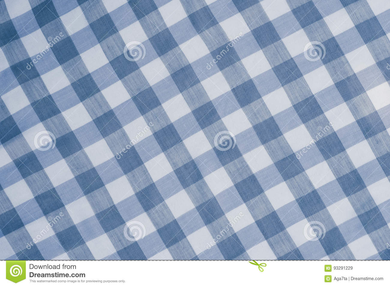 Blue tablecloth background - Background Blue Checkered Tablecloth