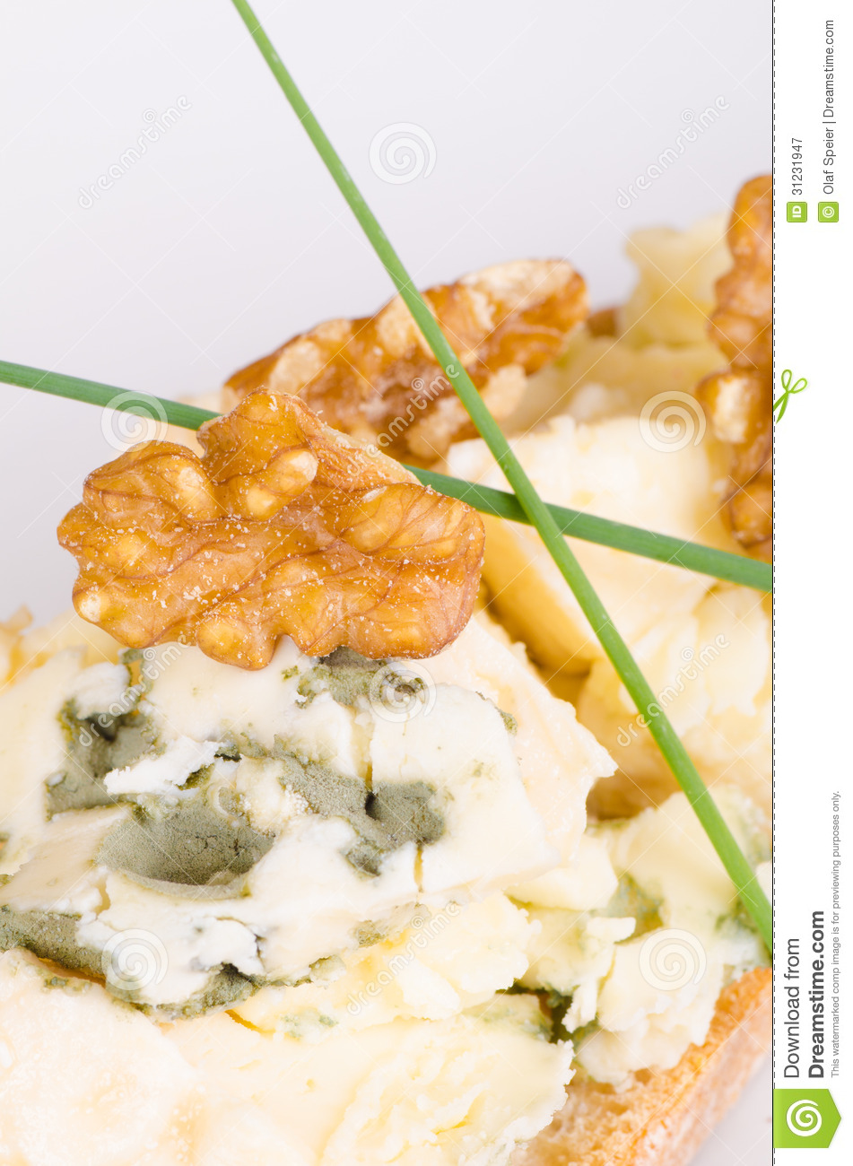 Blue cheese canape royalty free stock photography image for Blue cheese canape