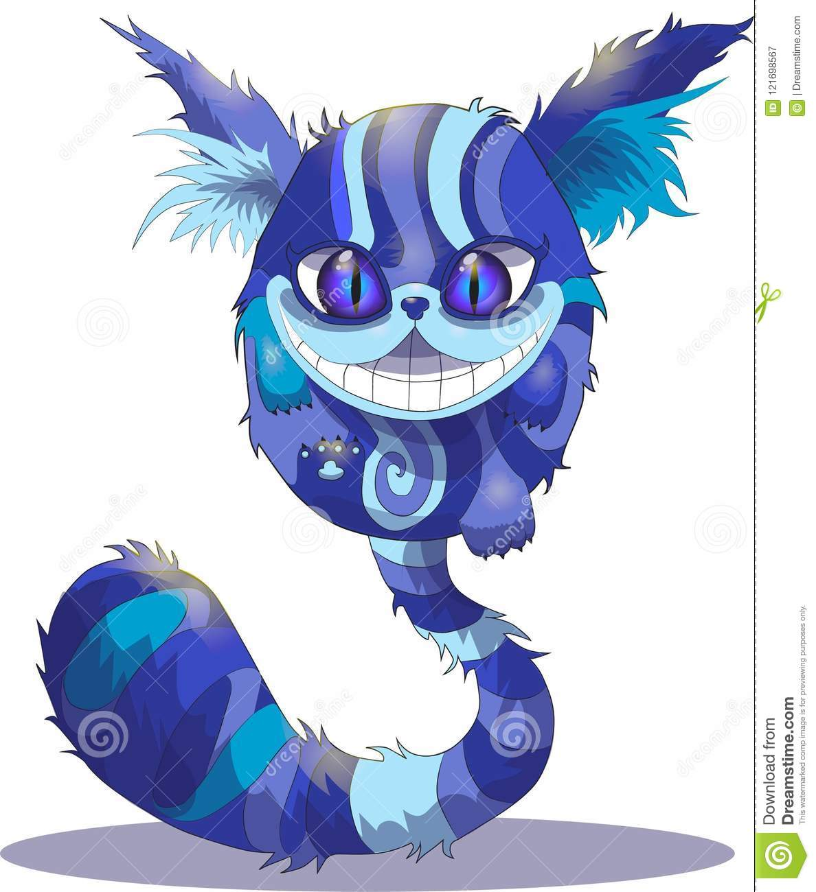 Cheshire Cat On A White Background Alice In Wonderland Stock