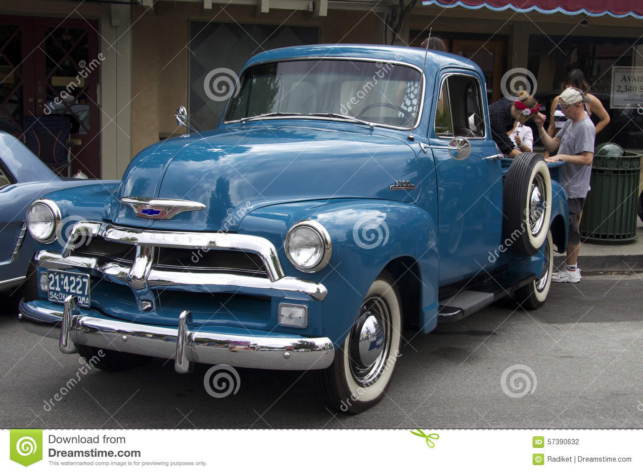Blue Chevy Pickup Truck Near The Cafe Front View Editorial Photography Image Of Horizontal Help 57390632