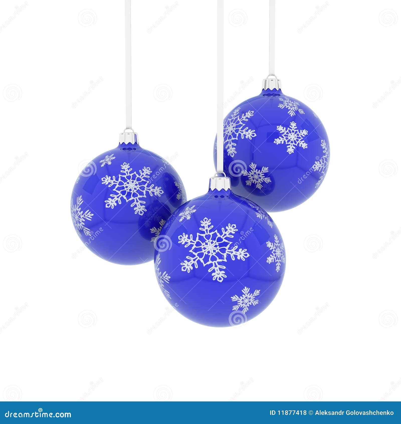 Blue christmas balls royalty free stock photos image