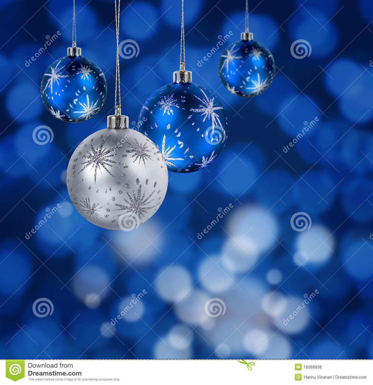 Blue Christmas Balls Stock Photo Image Of Light Xmas