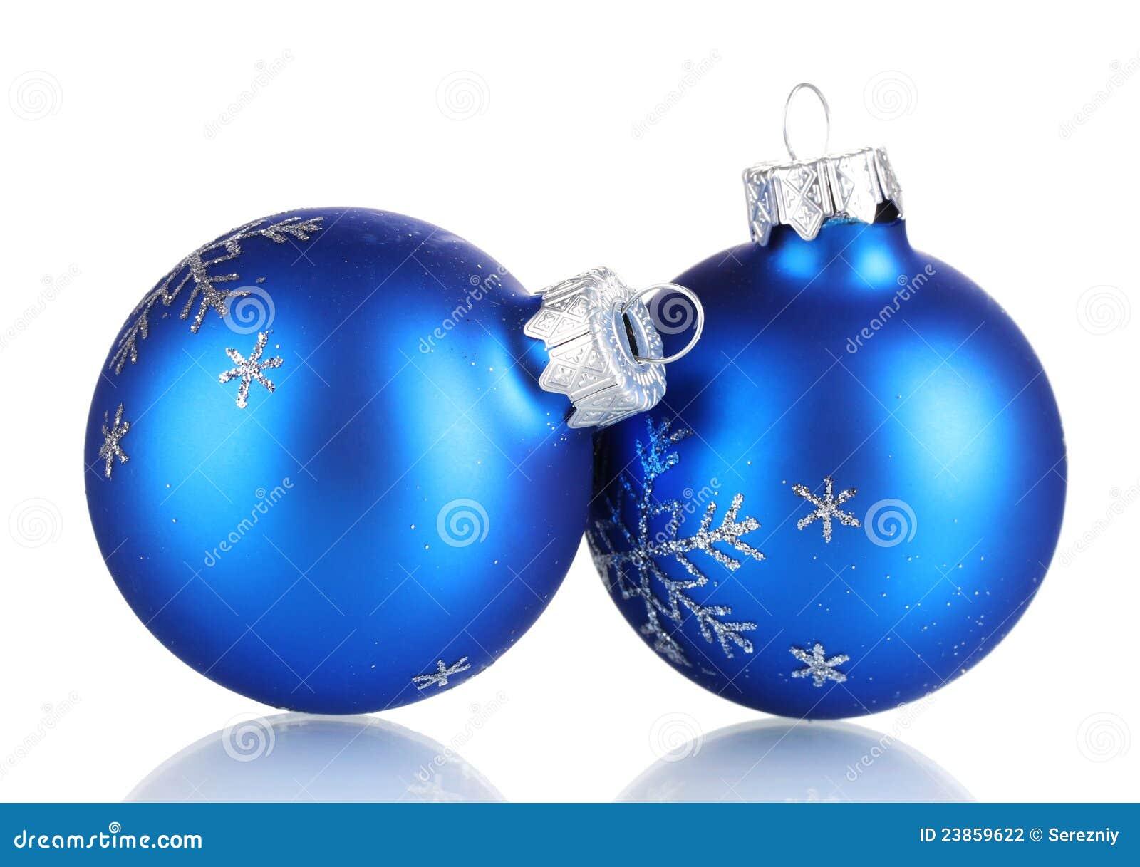 Blue christmas balls stock photography image