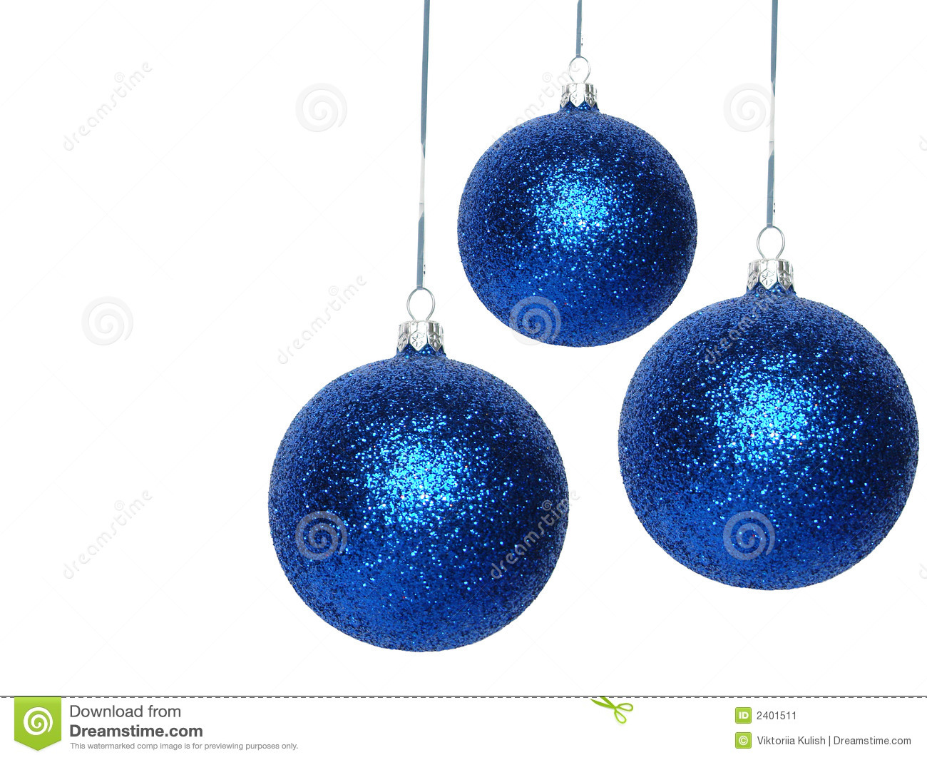 blue christmas balls stock image image 2401511. Black Bedroom Furniture Sets. Home Design Ideas