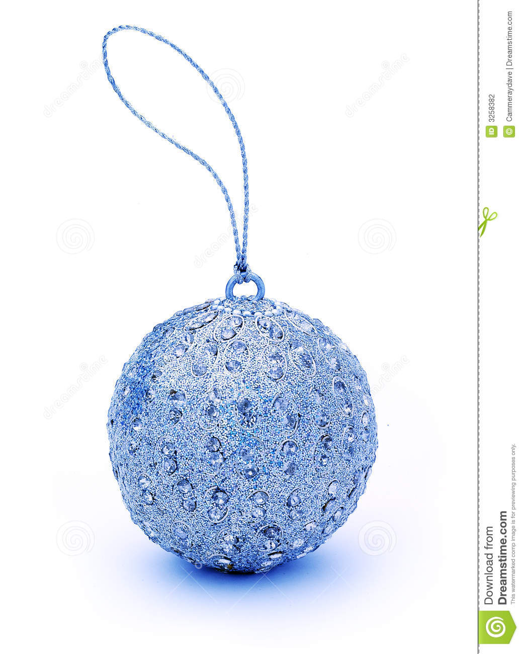 Blue Christmas Bauble Ornament Stock Photo Image 3258382