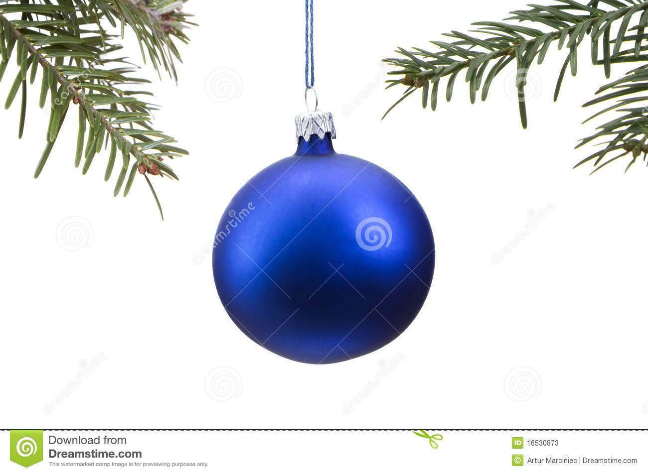 Top 28 Blue Christmas Bauble Isolated On Blue