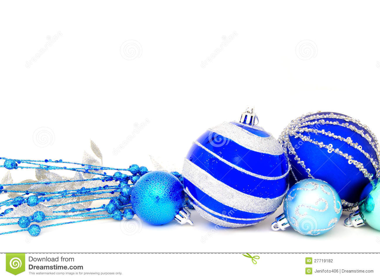 Blue Christmas Baubles Stock Photography - Image: 27719182
