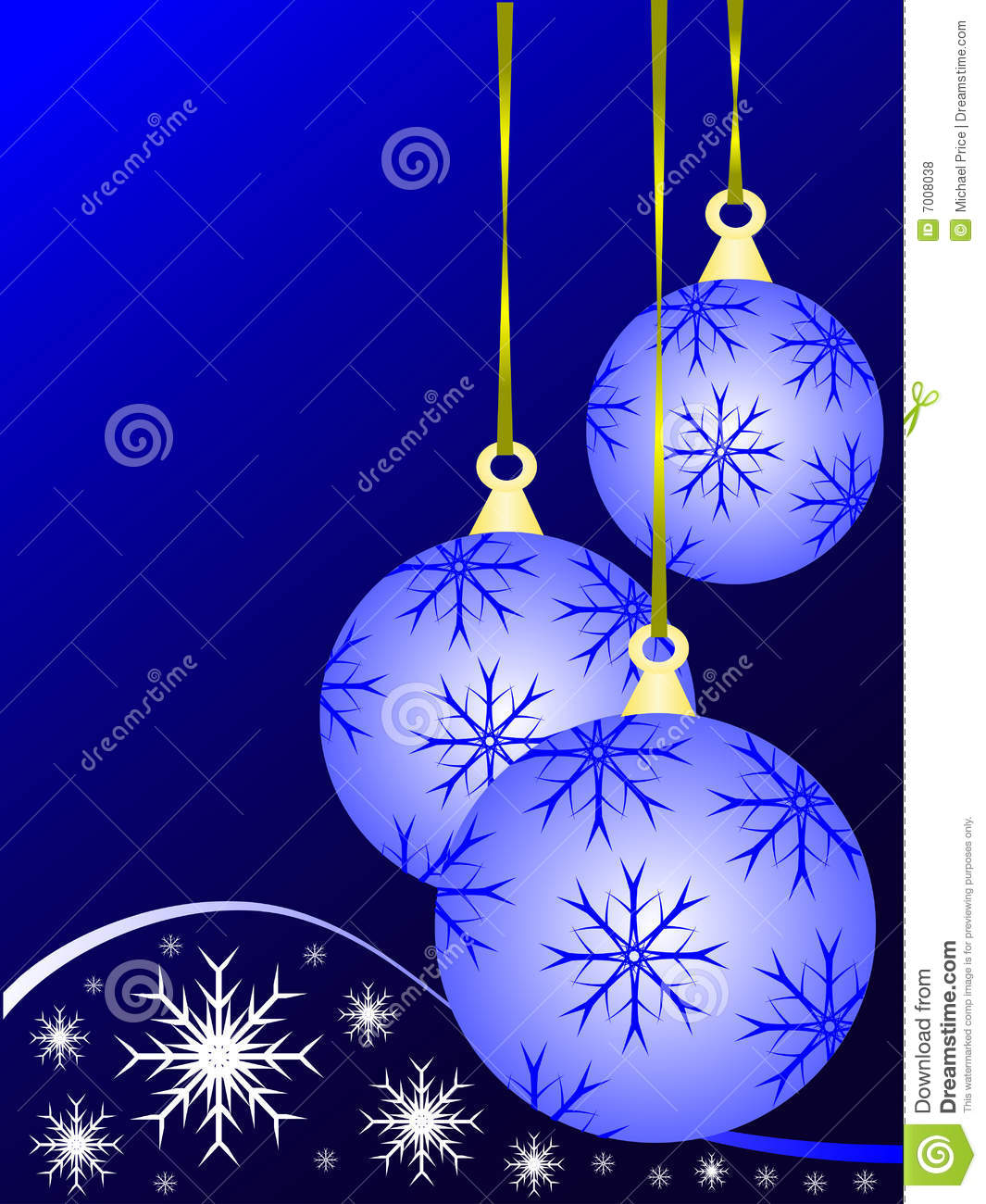 Blue Christmas Baubles Royalty Free Stock Photos Image