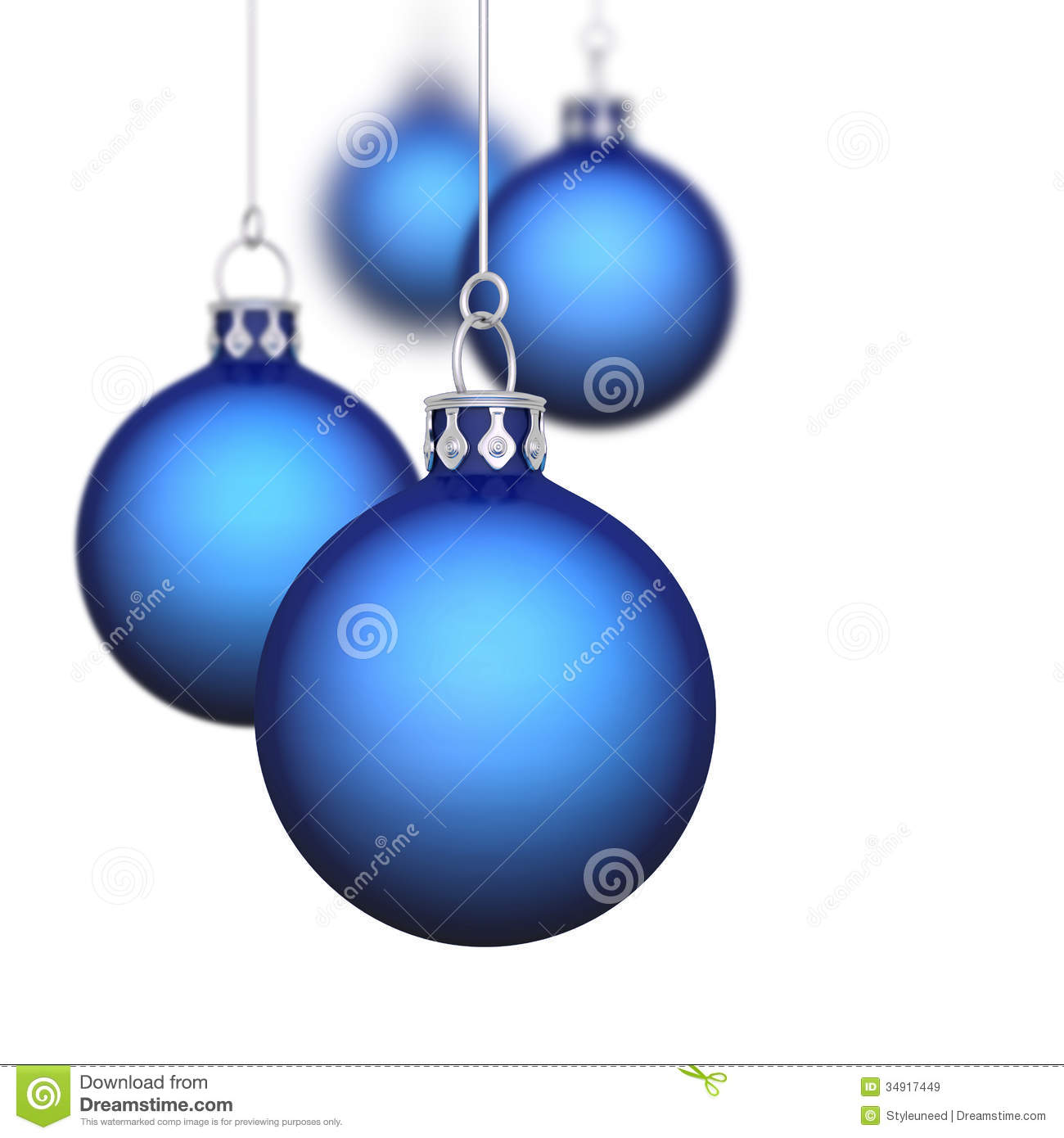 Blue Christmas Baubles Royalty Free Stock Images Image