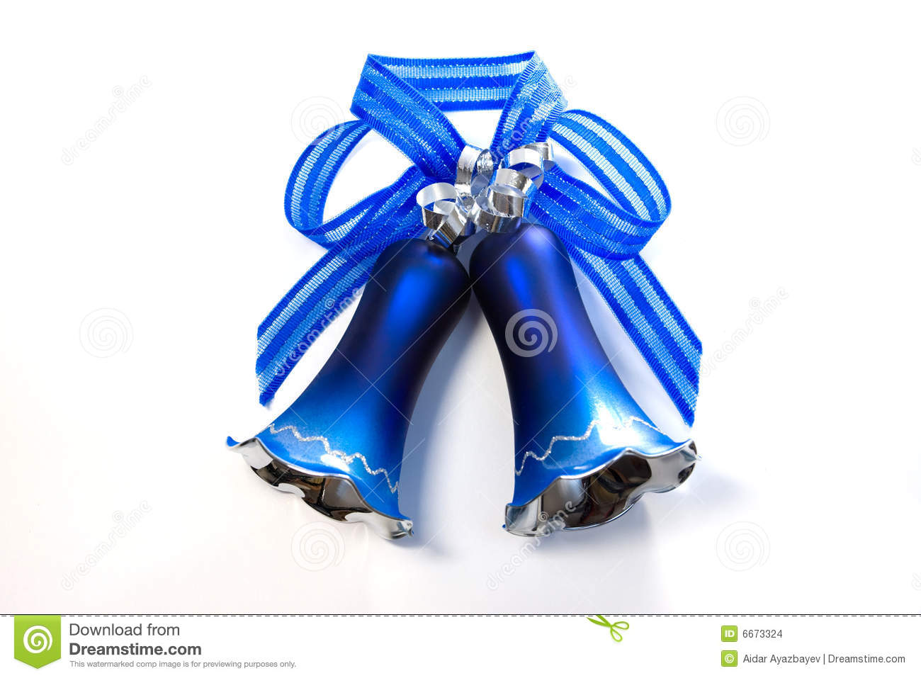 Blue christmas bell stock images image