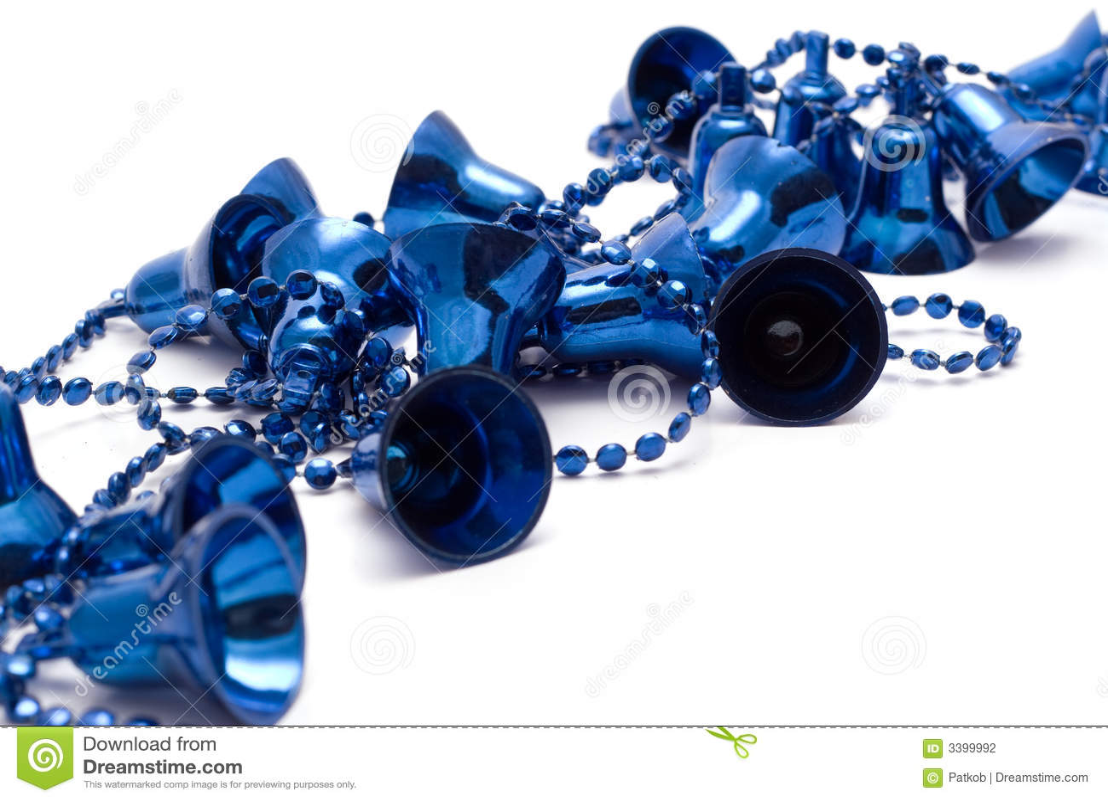 Blue christmas bells stock photography image