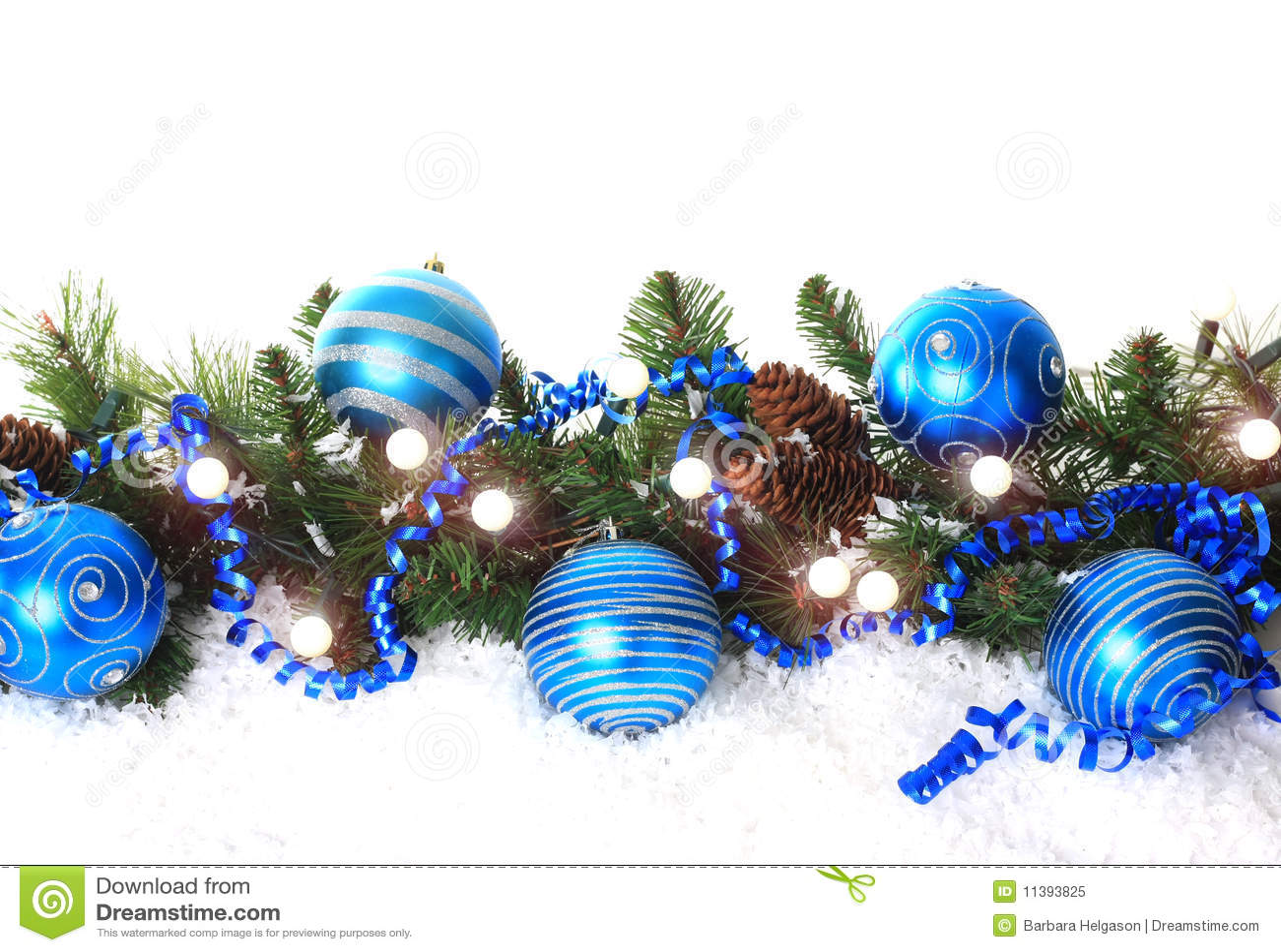 Blue Christmas Border Royalty Free Stock Photo - Image: 11393825