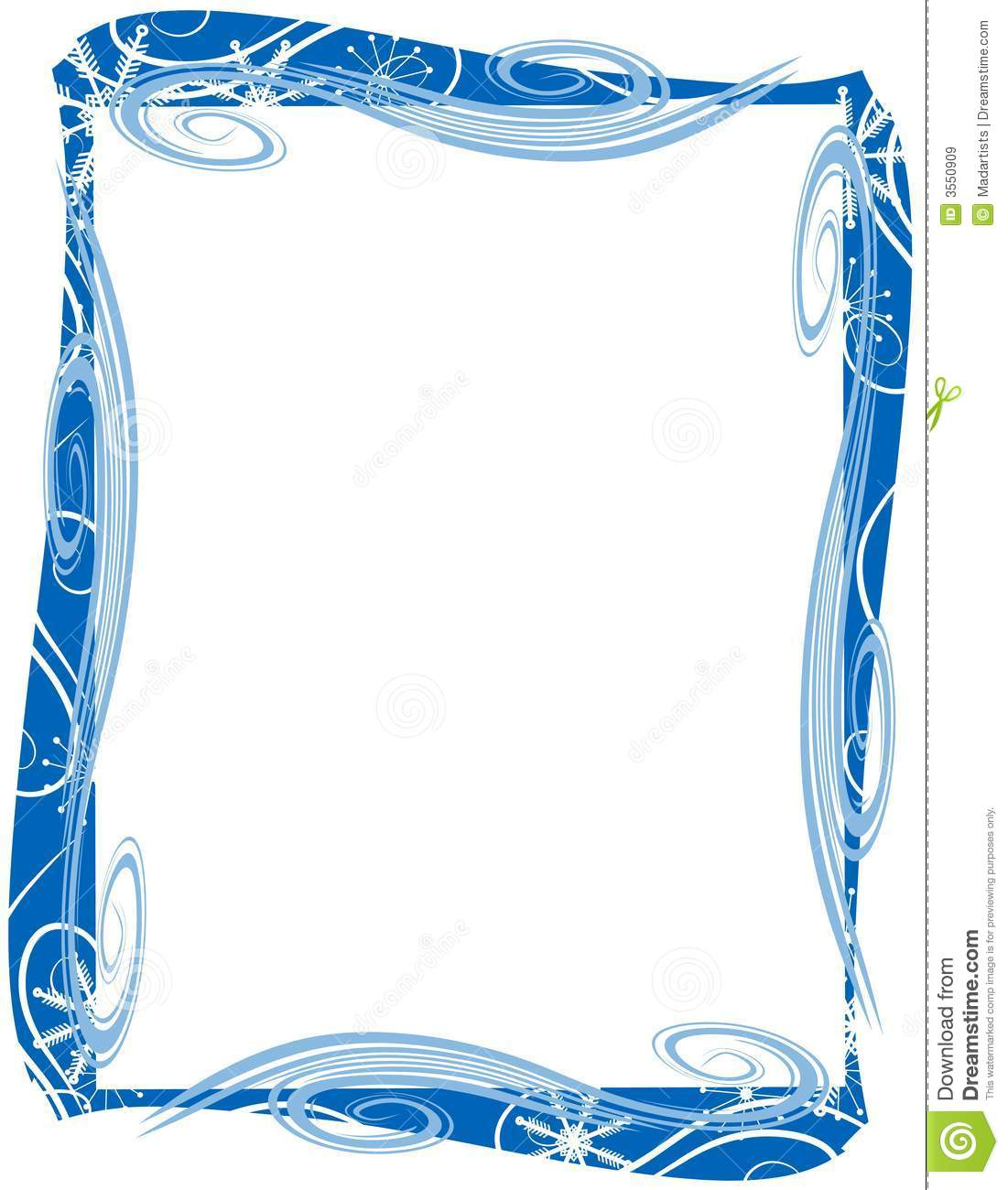 blue christmas border frame