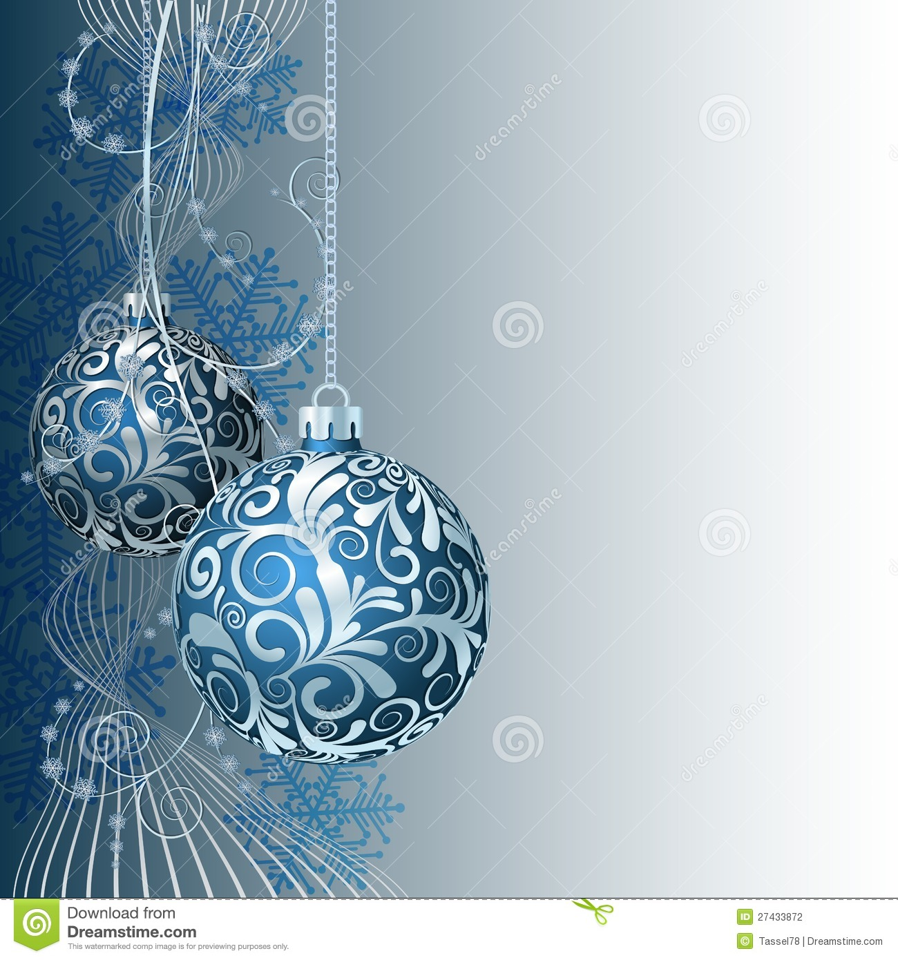 Blue Christmas card stock vector. Illustration of elements - 27433872