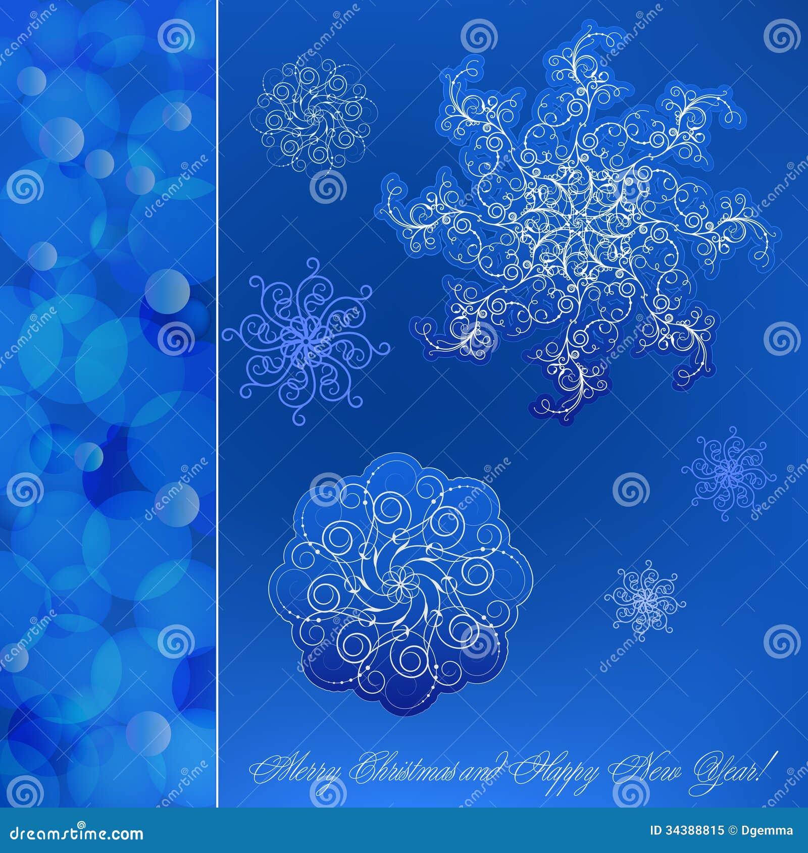 Blue Christmas Card Royalty Free Stock Photo Image 34388815